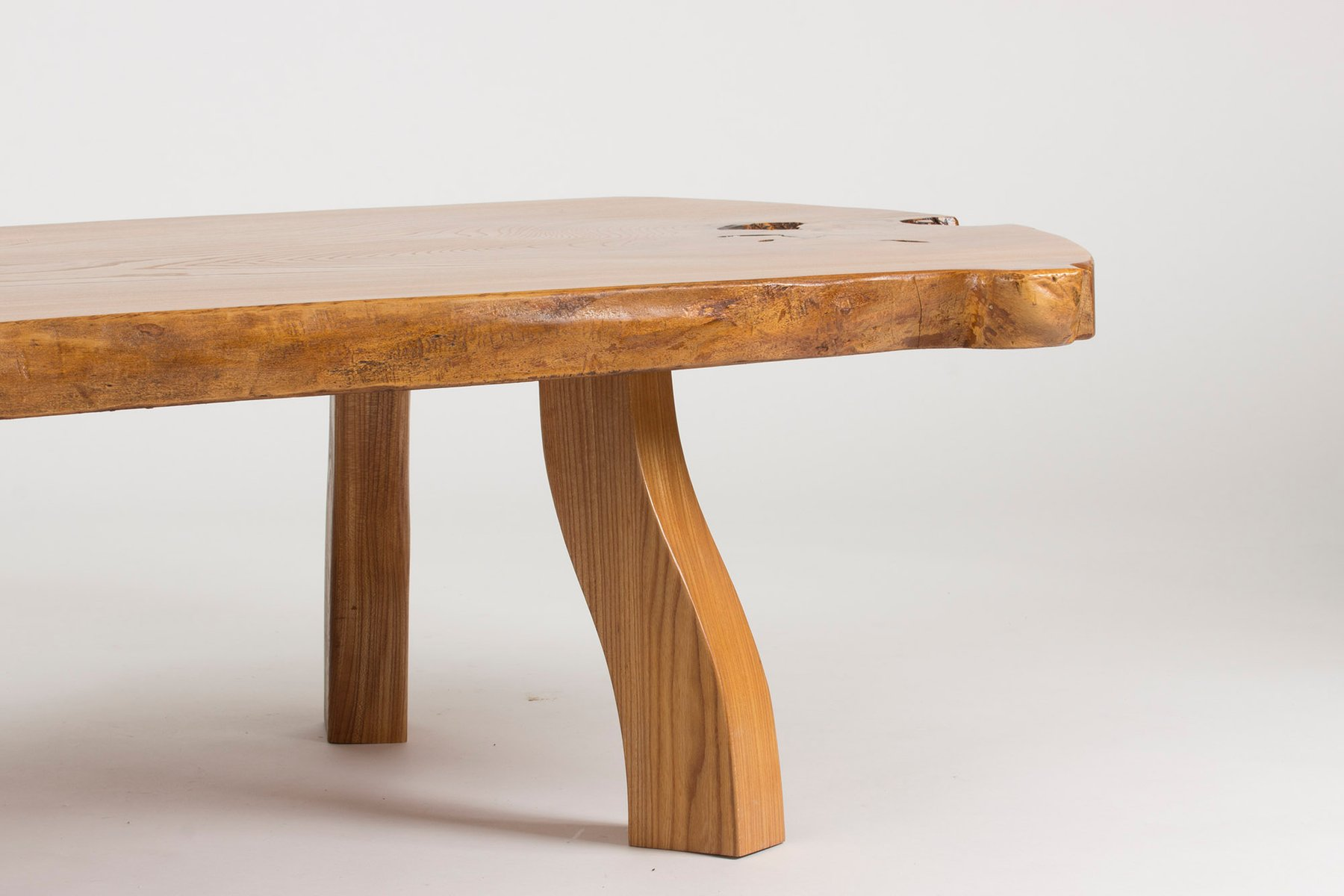 Pine Slab Coffee Table by C A Beijbom 1960s for sale at Pamono