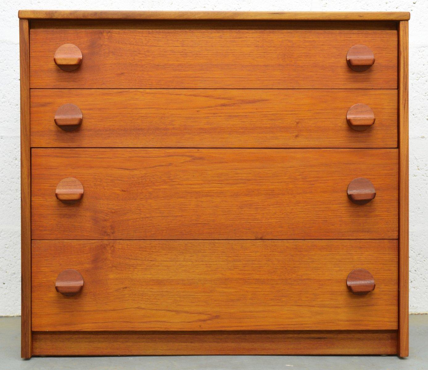 mid century teak kommode von stag bei pamono kaufen. Black Bedroom Furniture Sets. Home Design Ideas