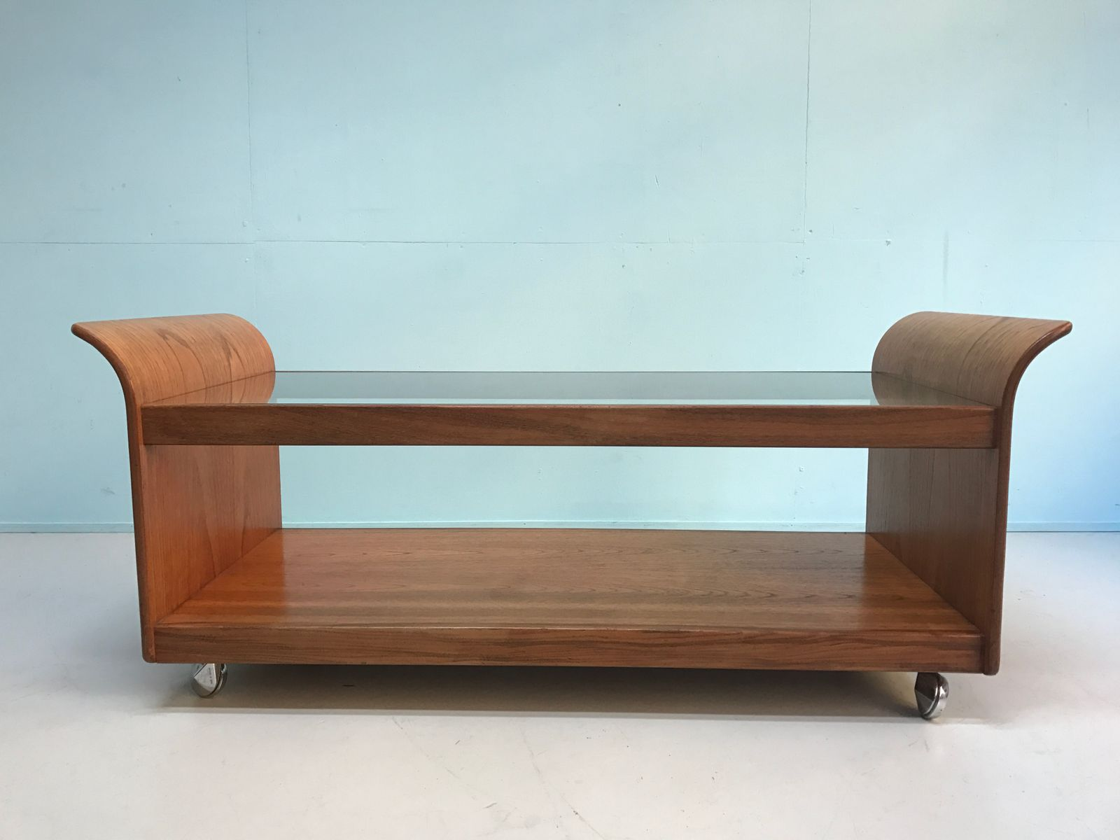 Teak And Glass Coffee Table Mid Century Coffee Table In Teak And Glass For Sale At Pamono