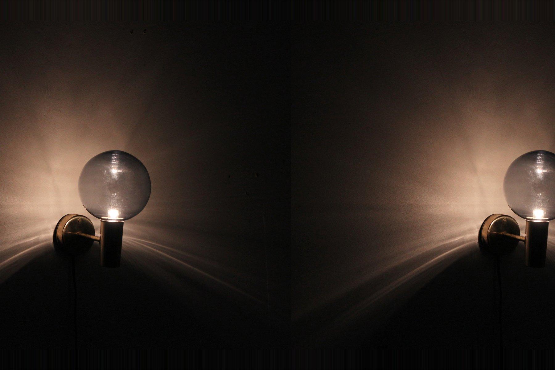 Scandinavian Wall Lights by Hans Agne Jakobsson for Arnold Wiigs Fabrikker, 1960s, Set of 2 for ...