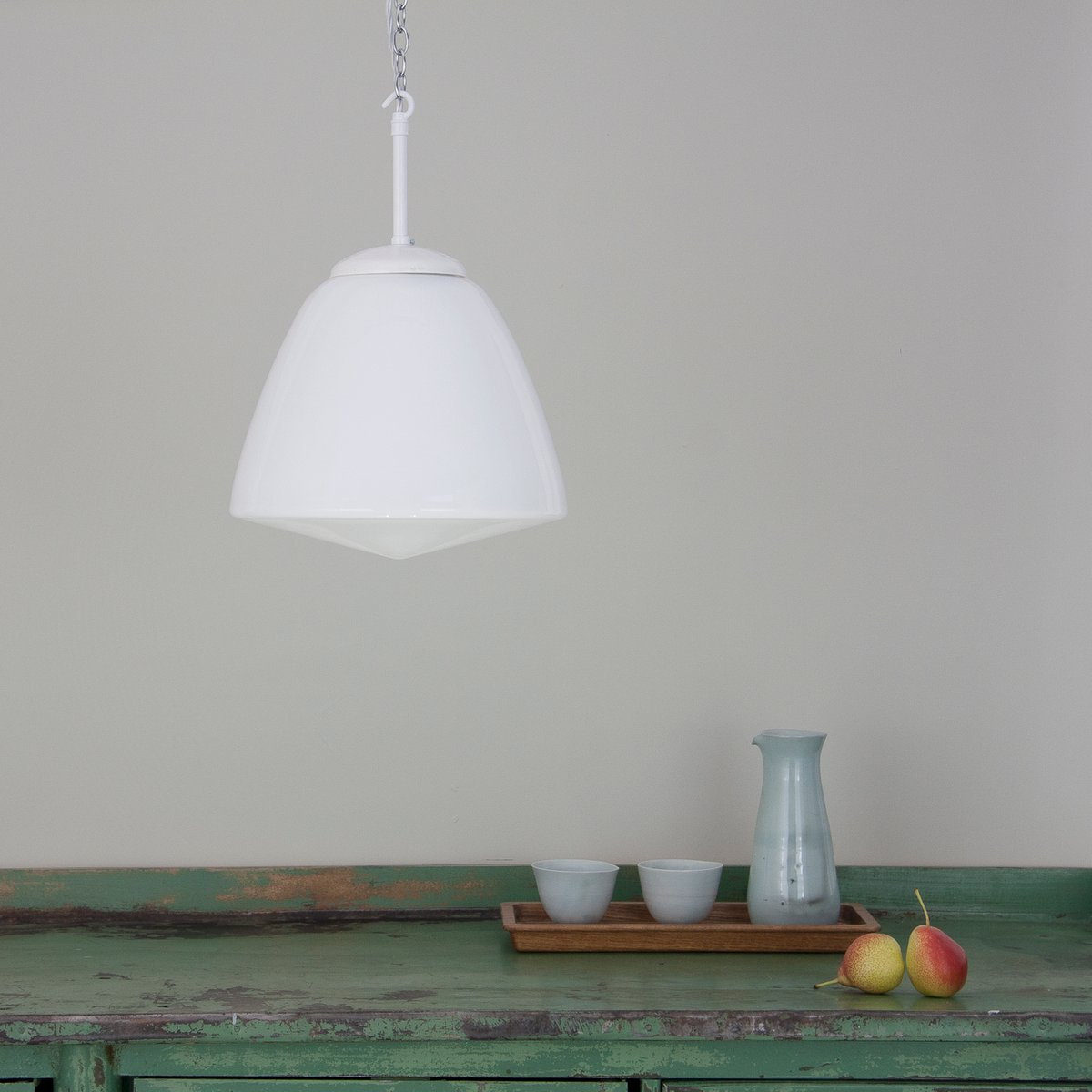 Vintage Czech Opaline Pendant Light For Sale At Pamono