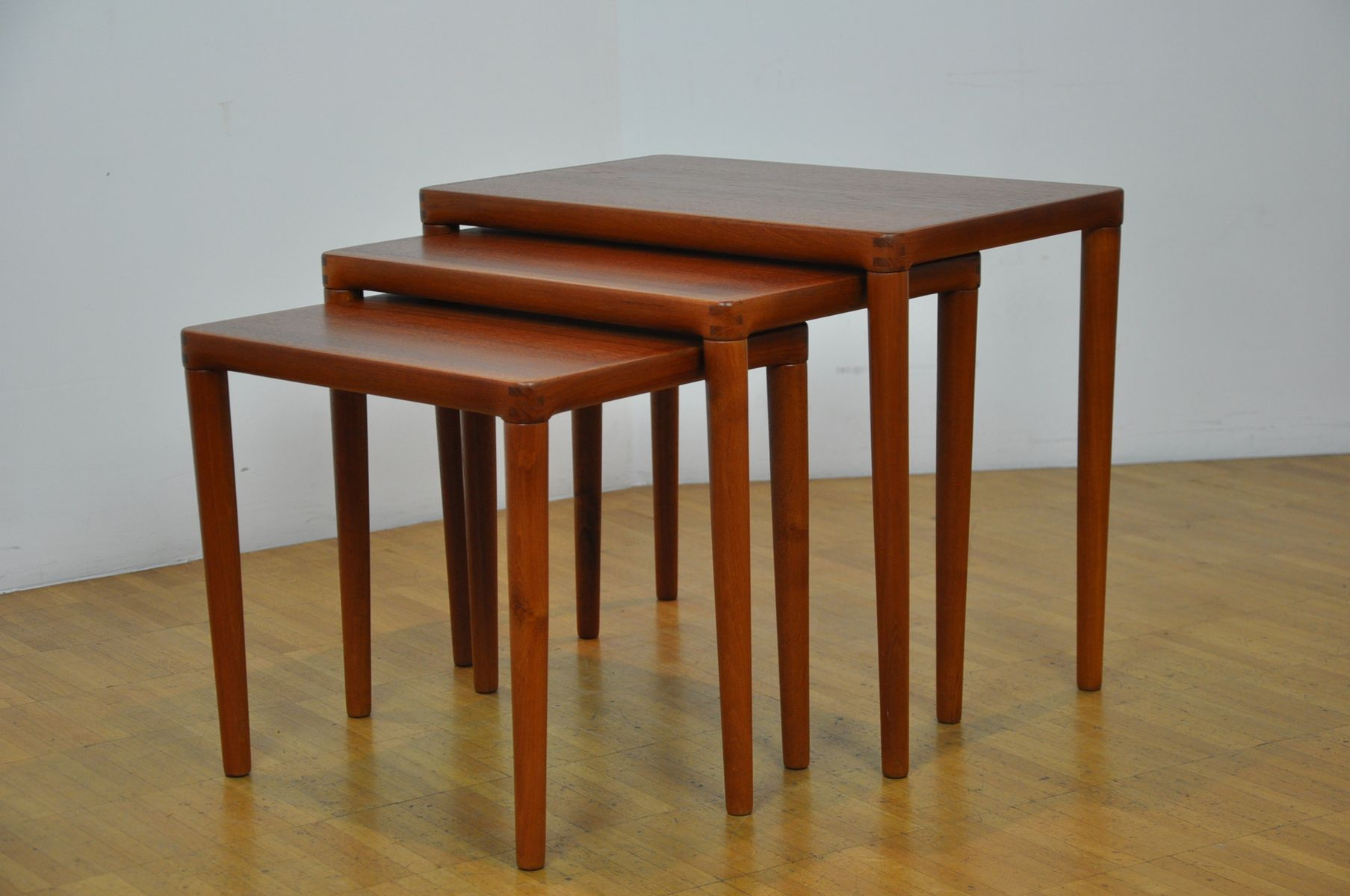 Danish Nesting Tables By H.W. Klein For Bramin, 1960s