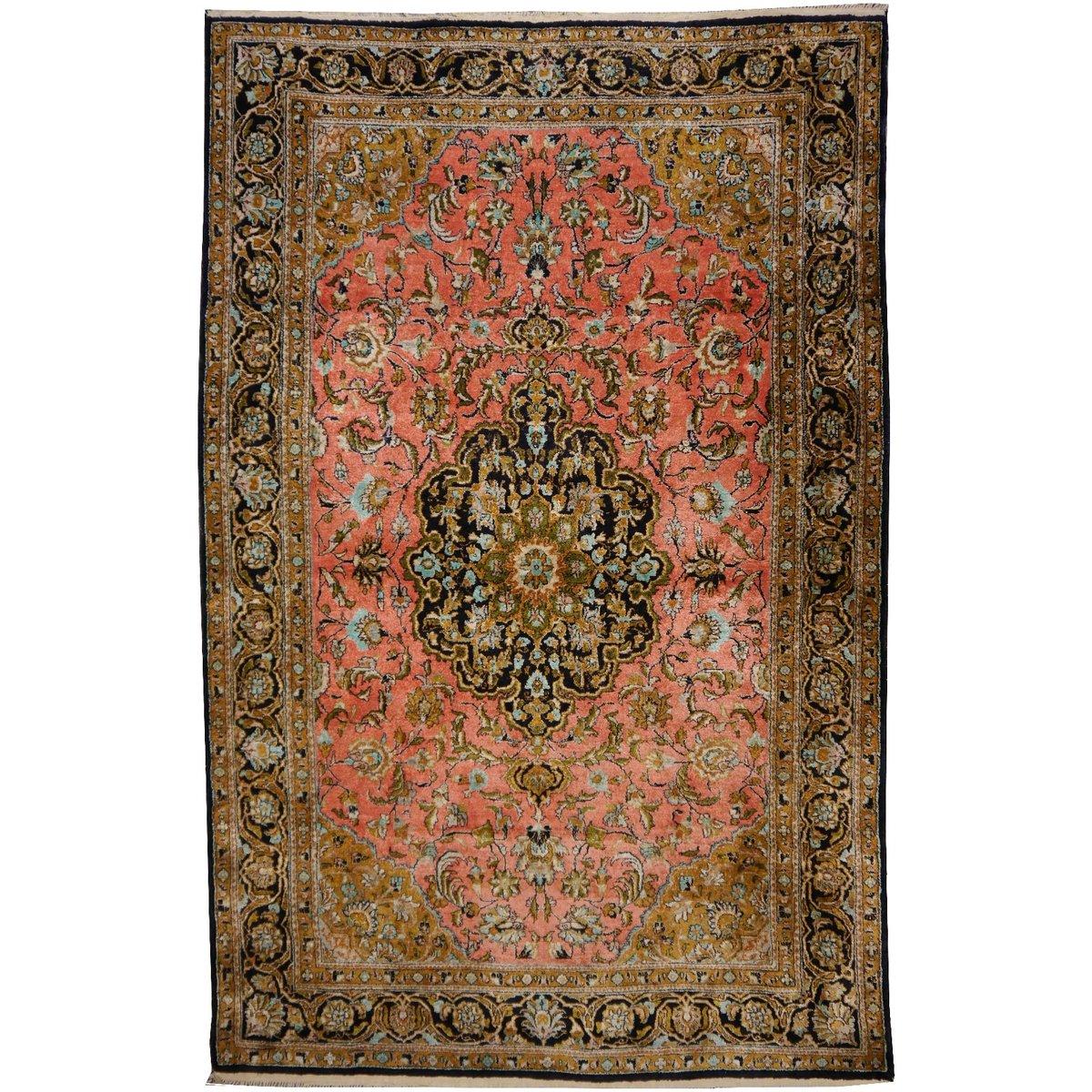 Persischer teppich  Persischer Teppich aus Seide, 1950er bei Pamono kaufen