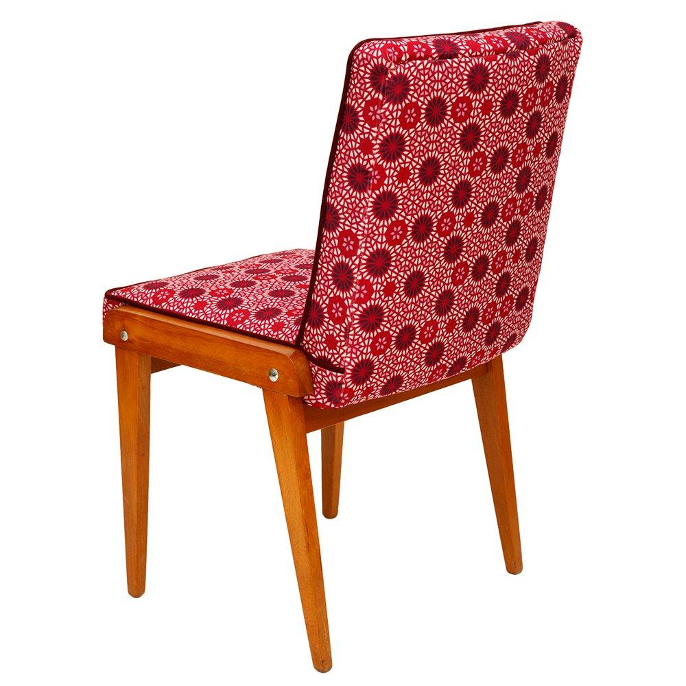 vintage stuhl mit himbeerfarbenem bezug bei pamono kaufen. Black Bedroom Furniture Sets. Home Design Ideas