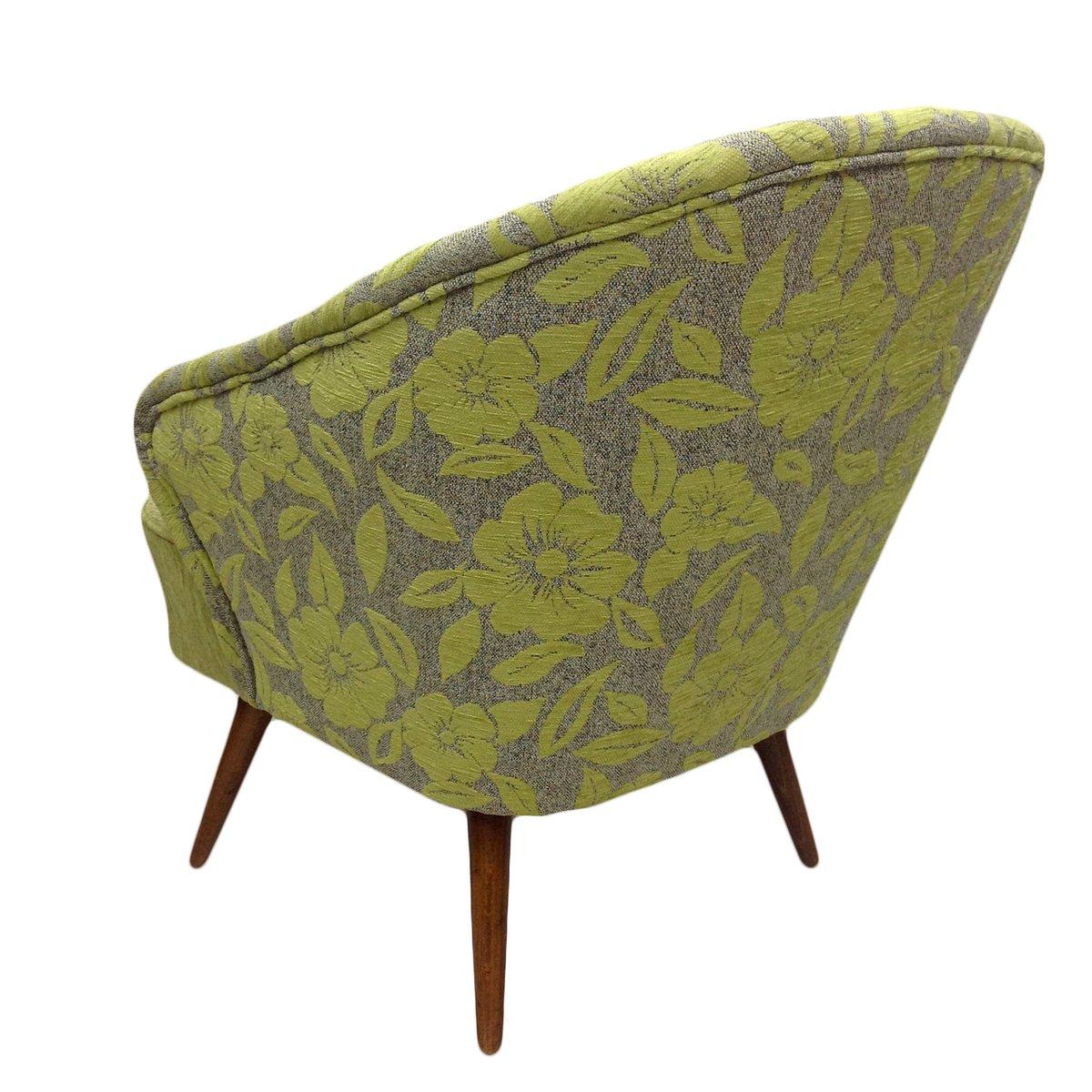 fauteuil vert avec fleurs 1960s en vente sur pamono. Black Bedroom Furniture Sets. Home Design Ideas