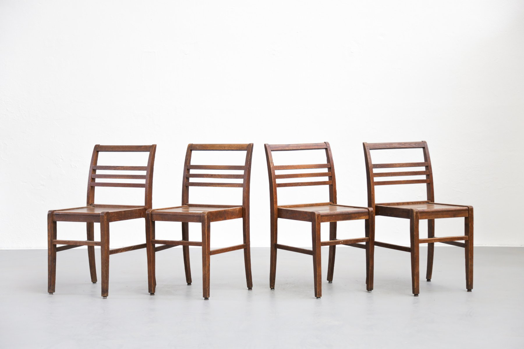 Mid Century Dining Chairs by René Gabriel Set of 4 for sale at Pamono