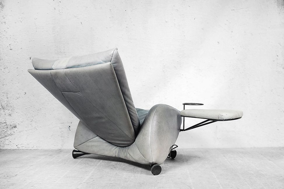 Space Age Adjustable Chair With Ottoman And Table By Kurt Ziehmer For Frank  Sitzmöbel, 1980s