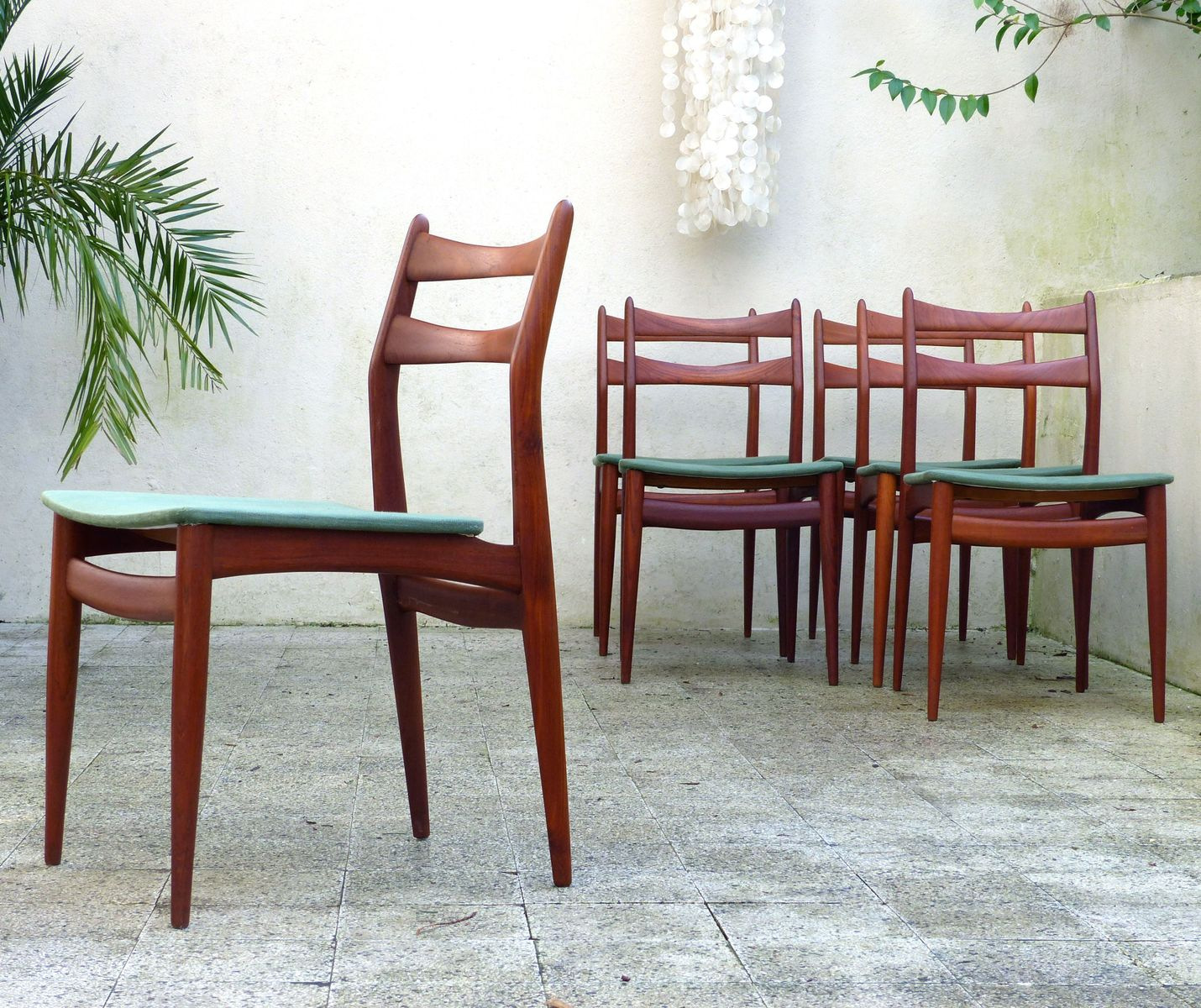 Danish Dining Chairs, 1970s, Set of 6 for sale at Pamono