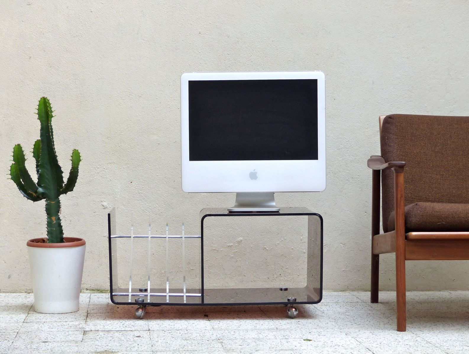 Vintage Cabinet U0026 Magazine Rack By Michel Dumas For Roche Bobois For Sale  At Pamono