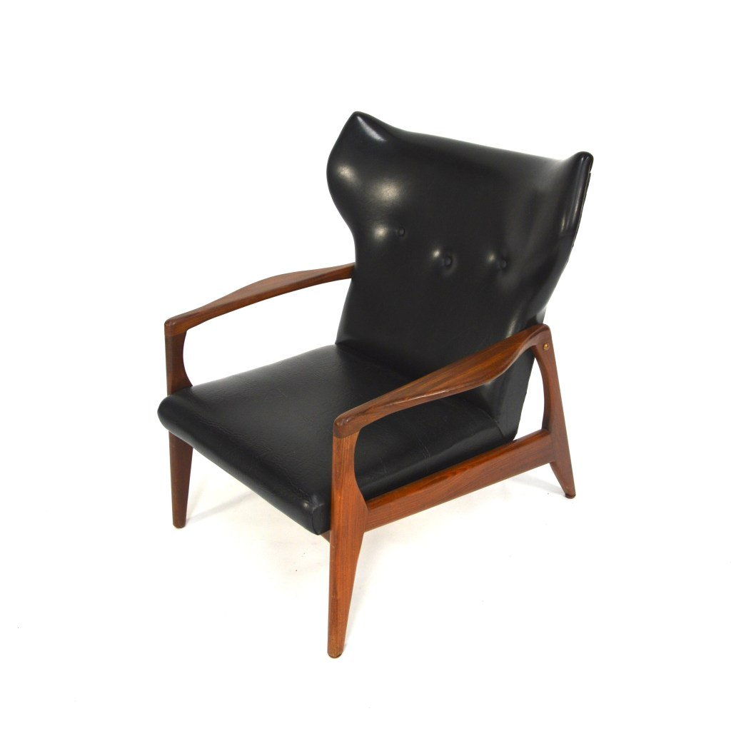 Mid century scandinavian wingback lounge chair 1950s for sale at pamono - Scandinavian chair ...