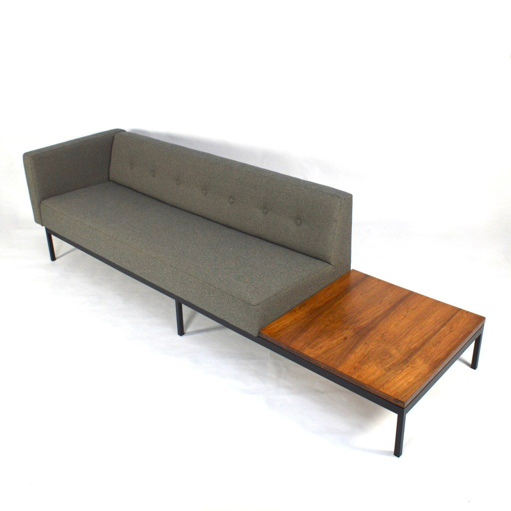 Mid century dutch 070 series sofa with rosewood coffee for Sofa coffee table