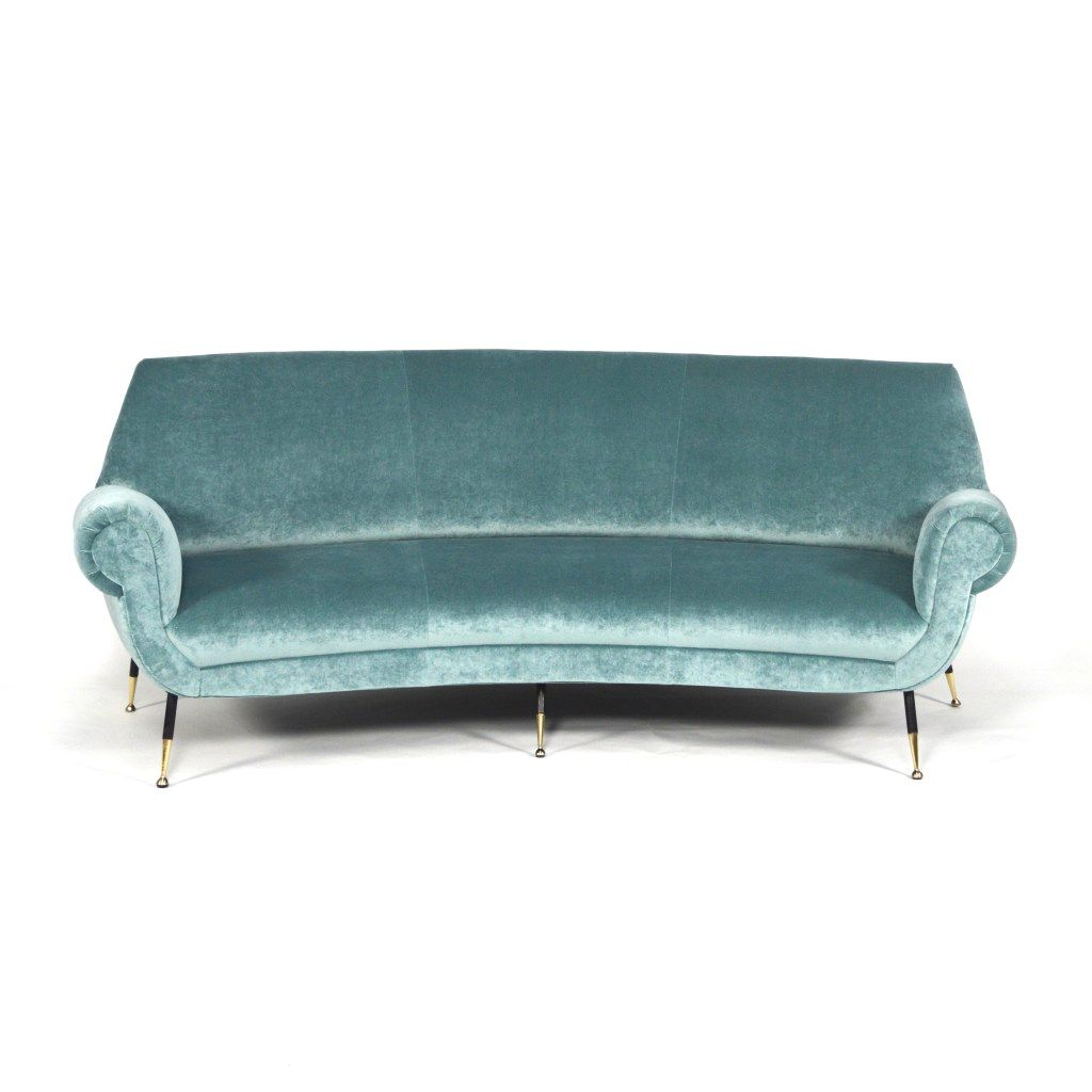 Curved Sofa By Gigi Radice For Minotti 1950s For Sale At