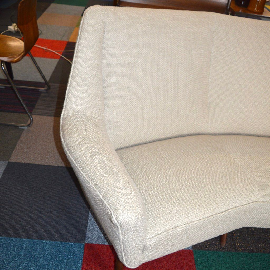 Large curved sofa 1950s for sale at pamono for Wide couches for sale
