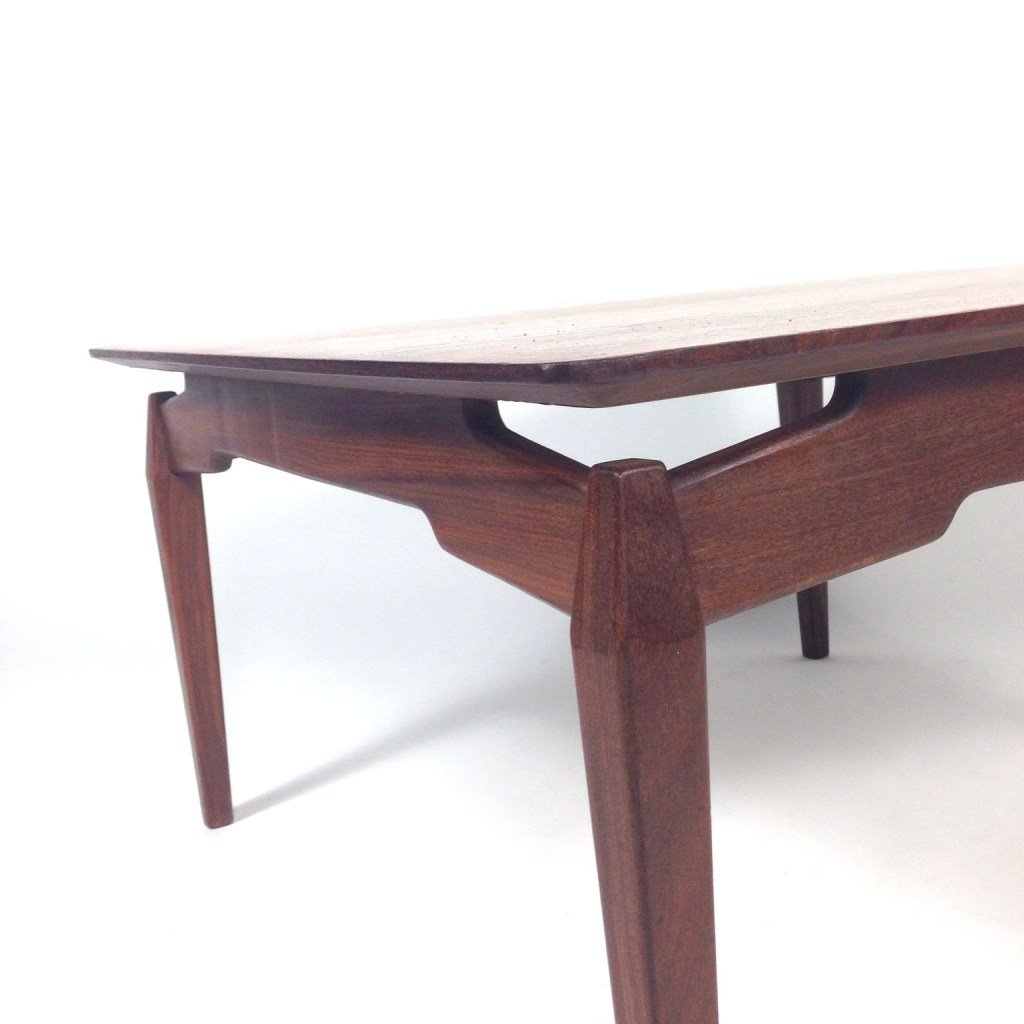 Mid-Century Dutch Teak Coffee Table From WéBé For Sale At