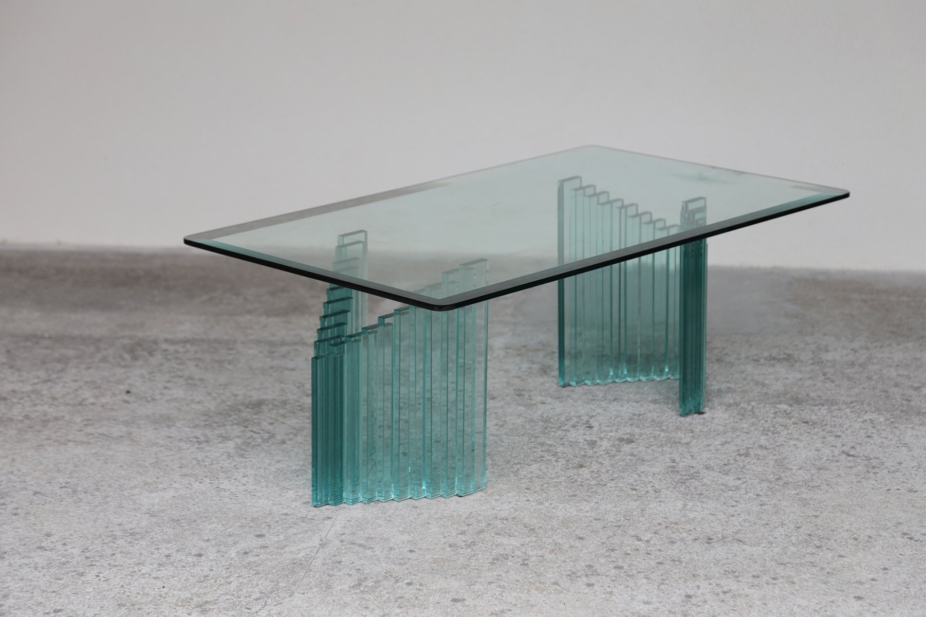 Vintage Italian Coffee Table in Glass for sale at Pamono