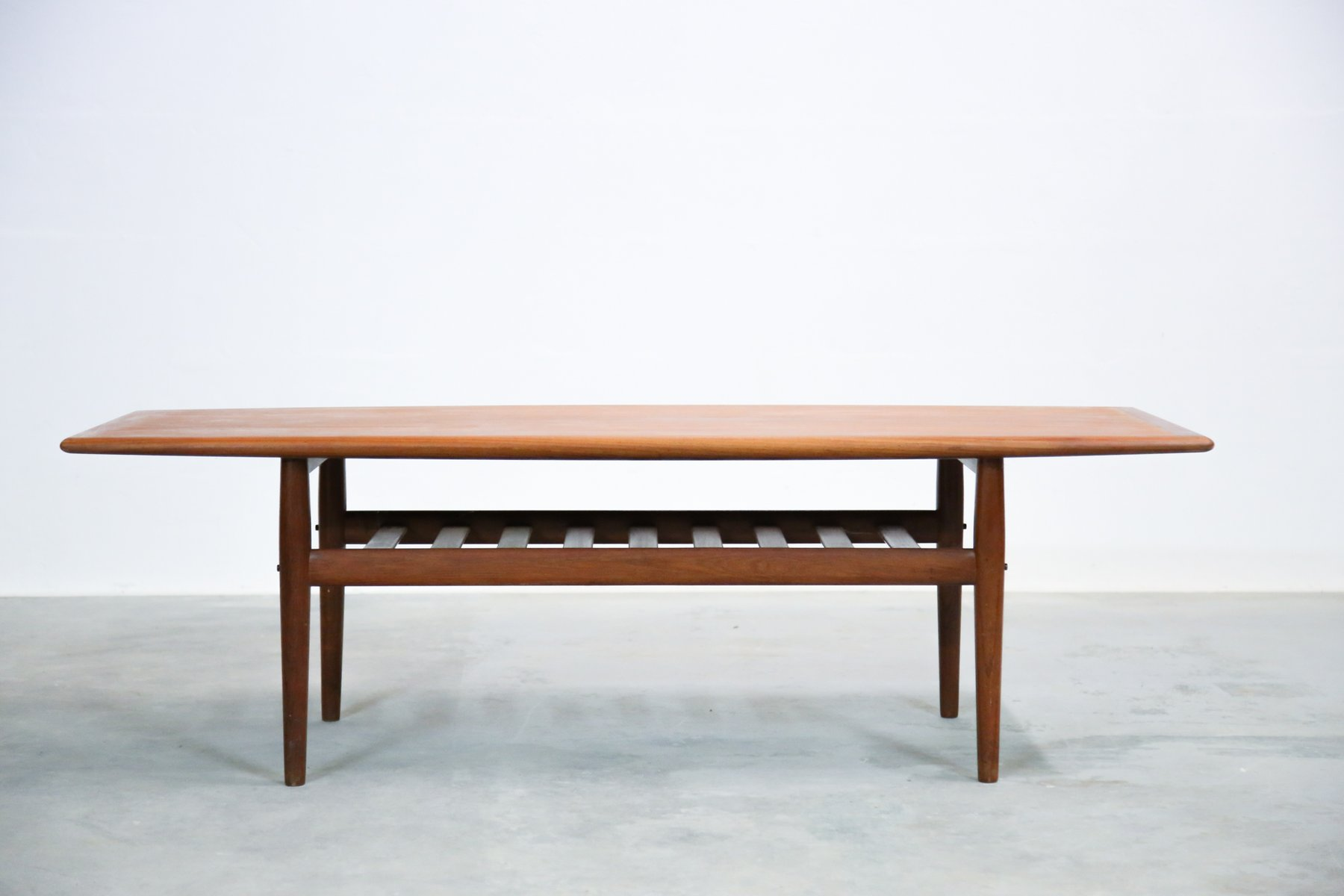 Danish Teak Coffee Table by Grete Jalk for Glostrup for sale at Pamono