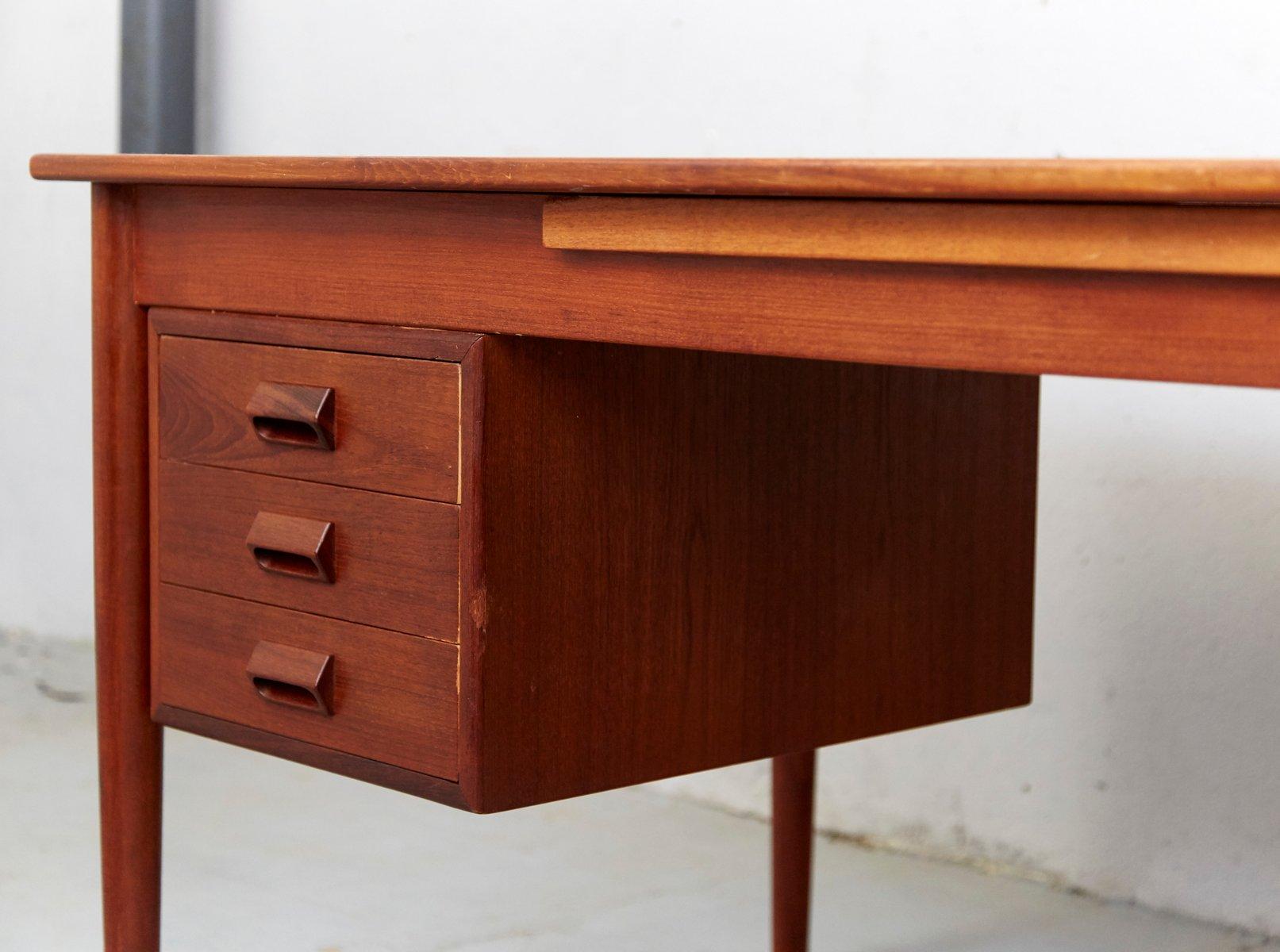 mid century teak schreibtisch von b rge mogensen f r s borg m belfabrik bei pamono kaufen. Black Bedroom Furniture Sets. Home Design Ideas
