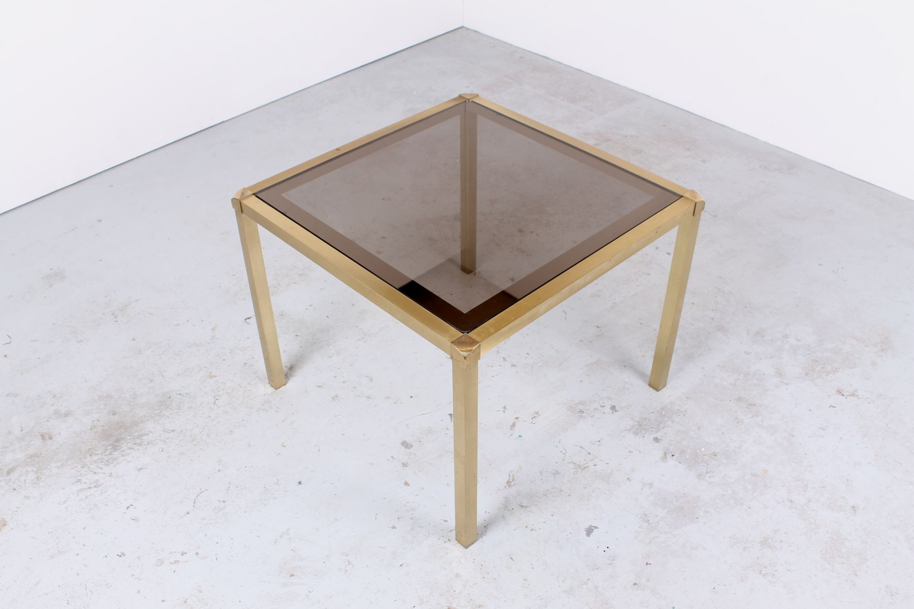 Hollywood Regency Style Brass and Glass Cocktail Table for sale at