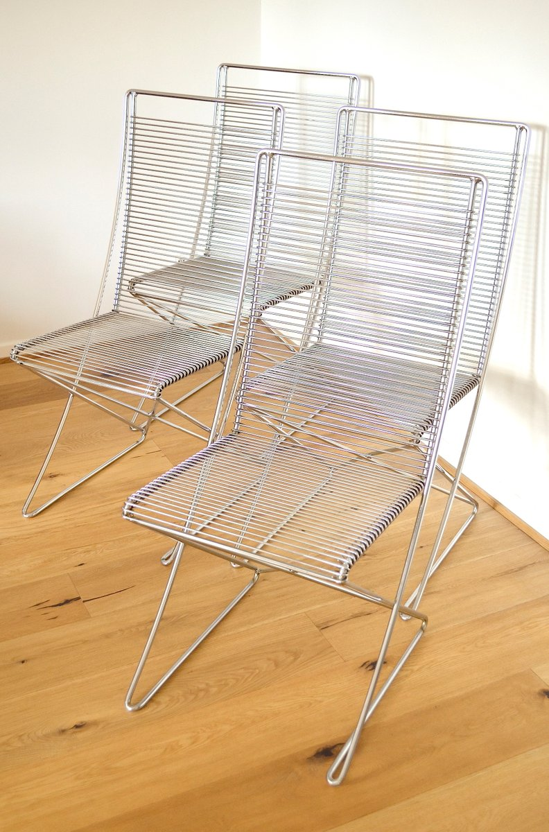 Metallmöbel vintage  Vintage Metal Chairs by Till Behrens for Meyer Metallmöbel, Set of ...