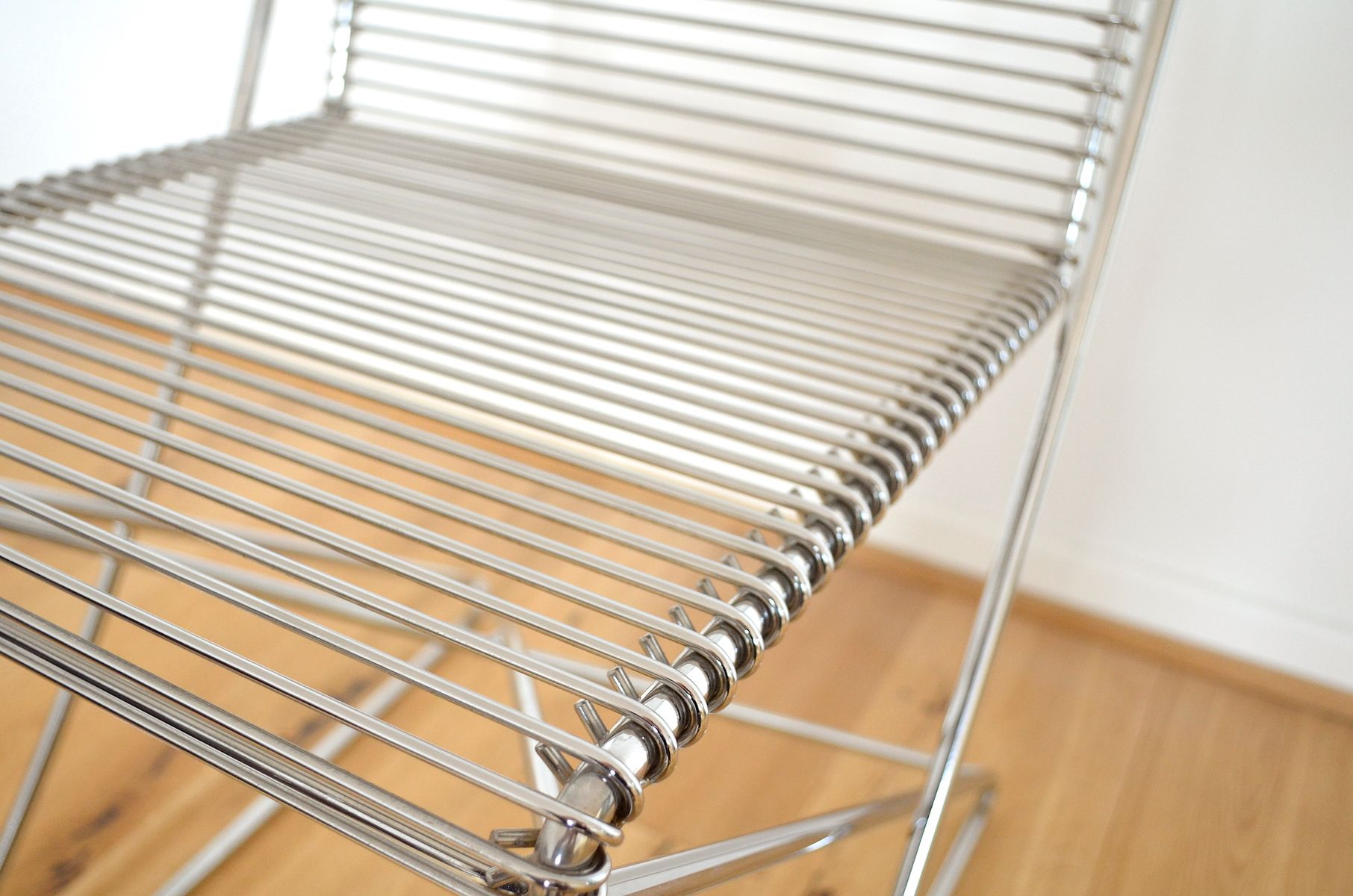 Vintage Metal Chairs by Till Behrens for Meyer Metallmöbel Set of