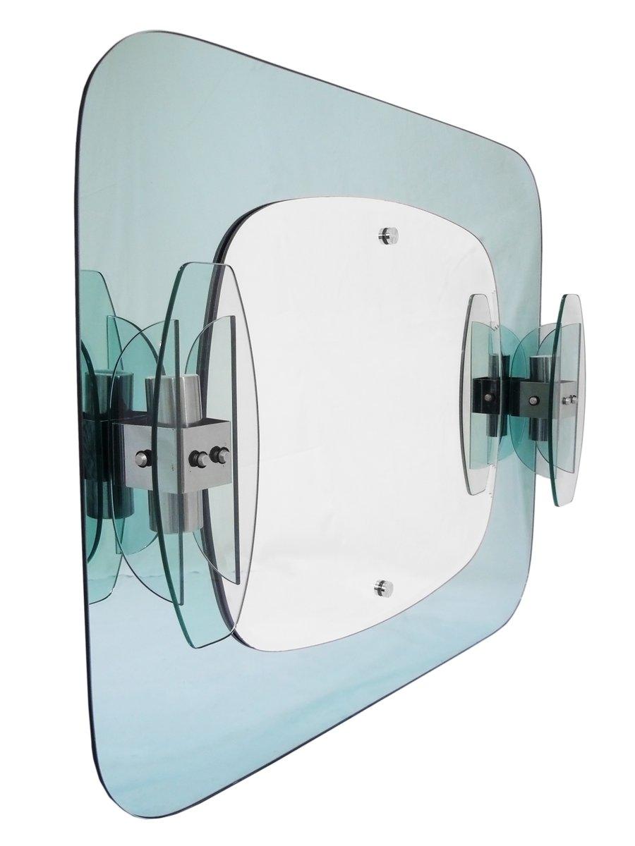 Specchio da bagno con applique di mazzega italia anni - Applique bagno specchio ...
