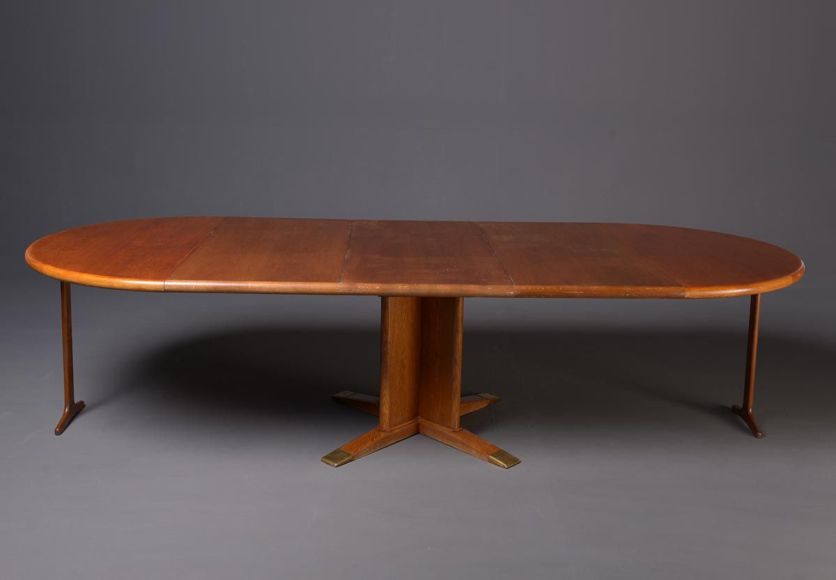 Round Extendable Dining Table By Frits Henningsen 1940s For Sale. Dining Room Set 1940s Dining Room Furniture   dact us