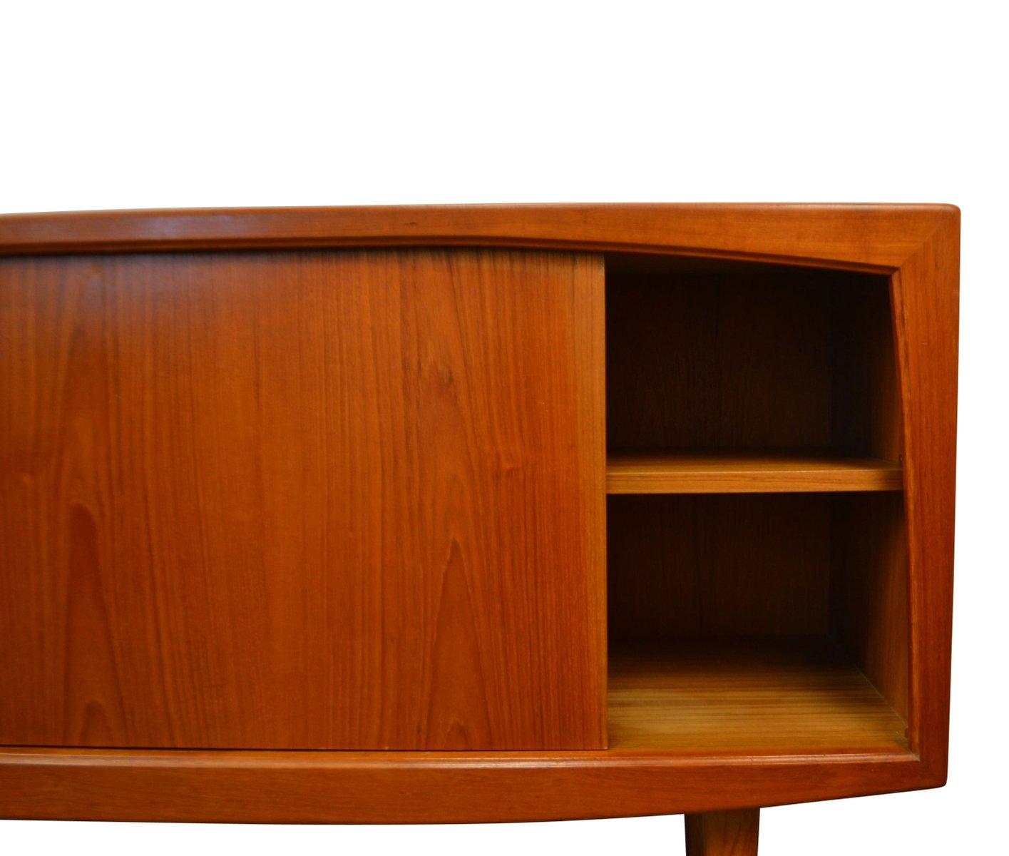midcentury danish teak sideboard with sliding doors u0026 drawers