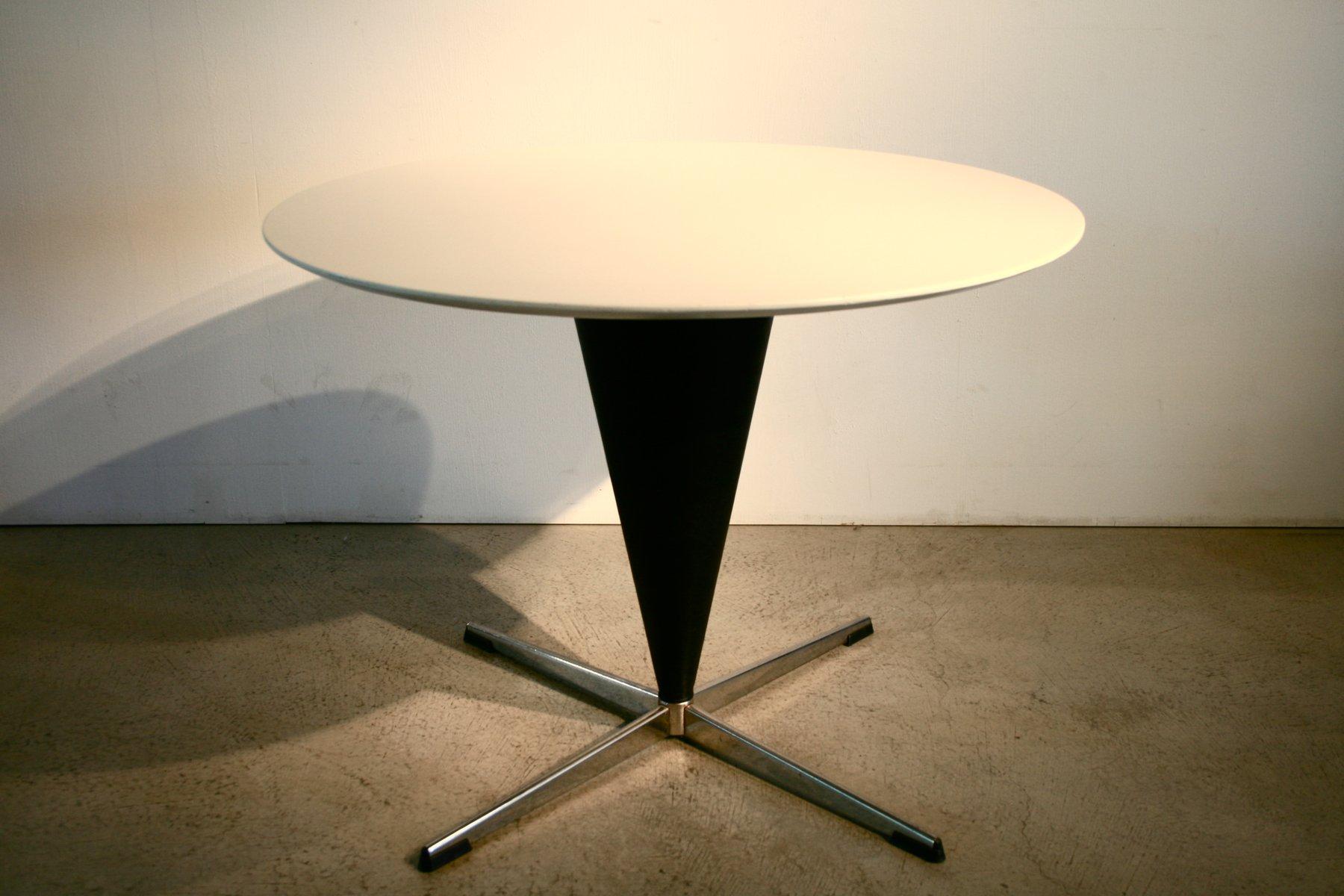 mid century kegel tisch von verner panton f r gebr der. Black Bedroom Furniture Sets. Home Design Ideas
