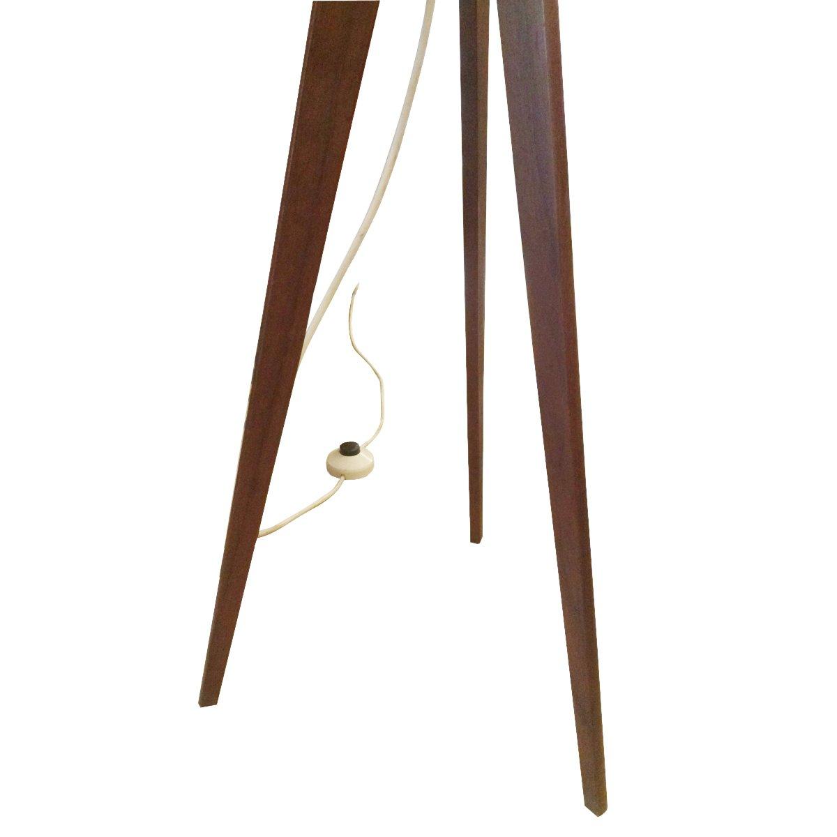 schwedische vintage teak dreifu stehlampe bei pamono kaufen. Black Bedroom Furniture Sets. Home Design Ideas