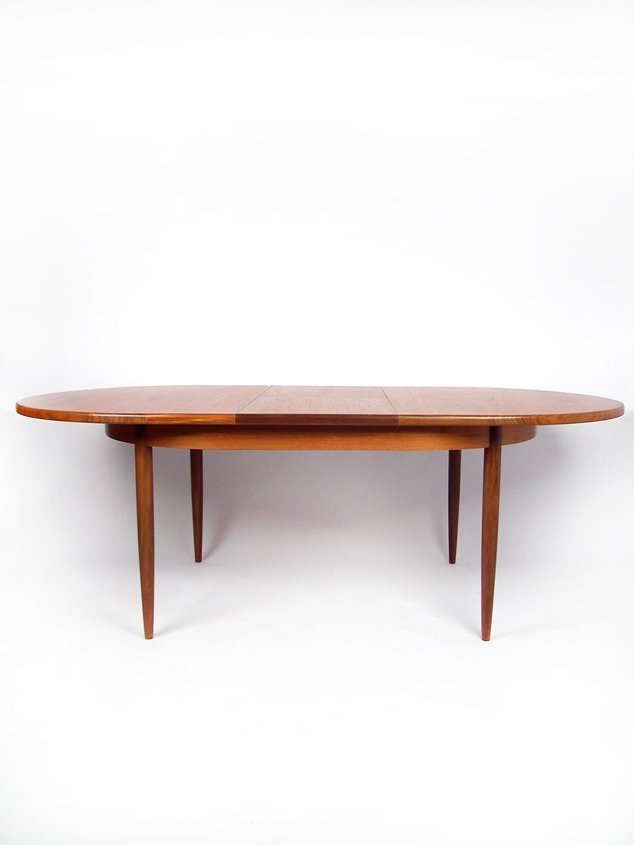 Teak Oval Dining Table Oval Extendable Teak Dining Table From G Plan For Sale At Pamono