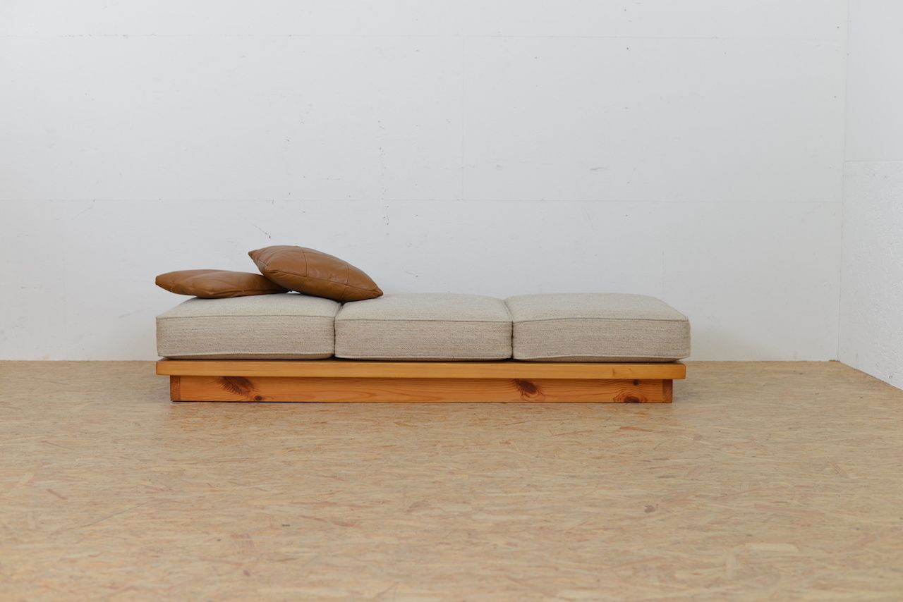 Vintage Wooden Daybed With Loose Cushion For Sale At Pamono
