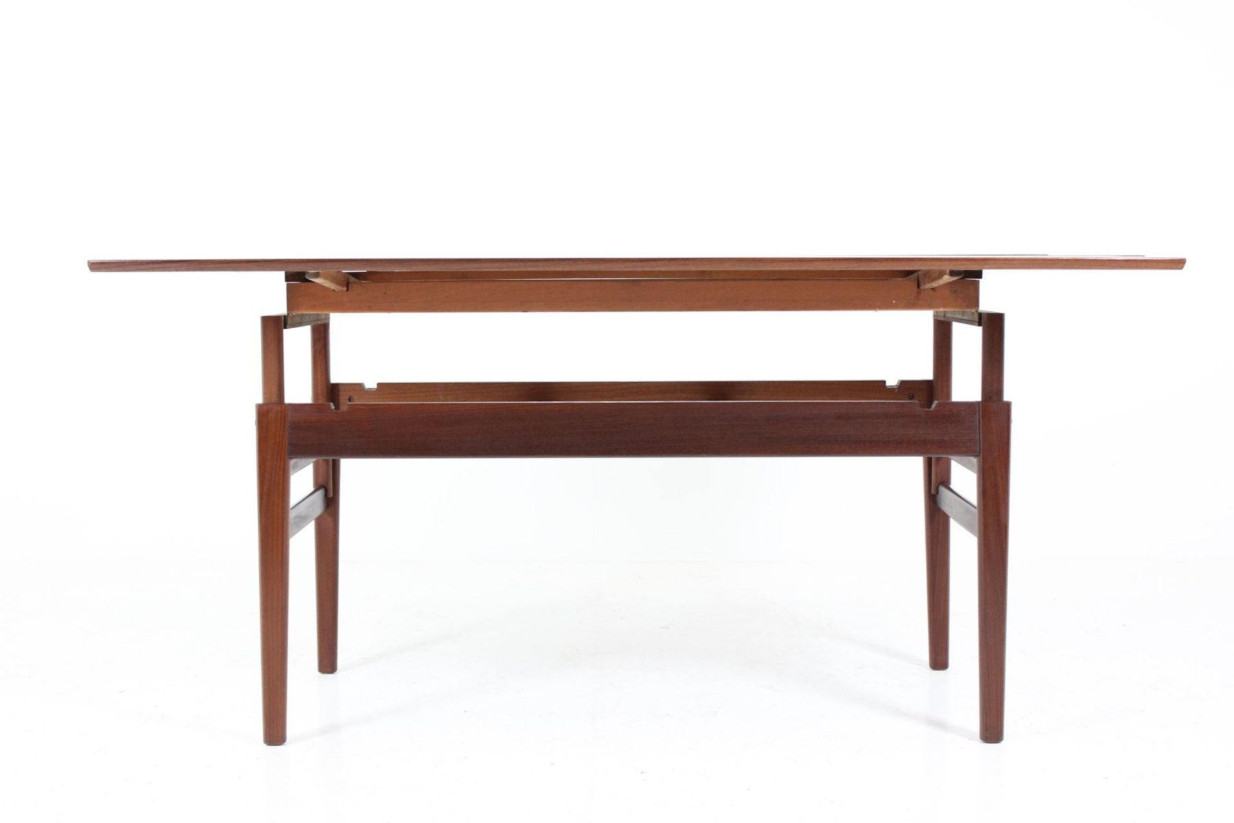 height adjustable danish teak coffee table 1960s for sale at