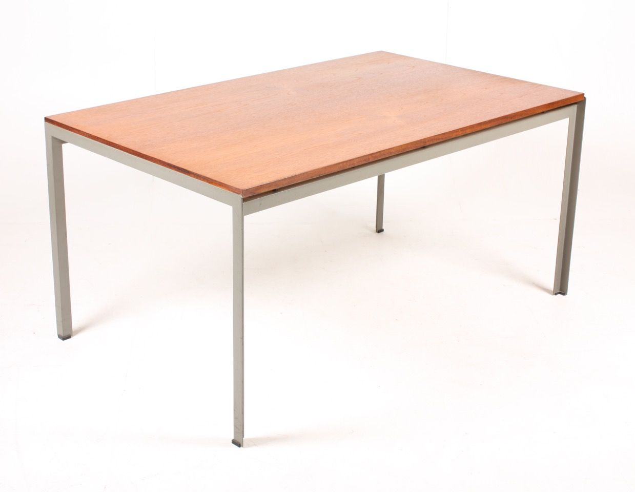 Work Table with Teak Top by Poul Kjrholm for Rud. Rasmussen
