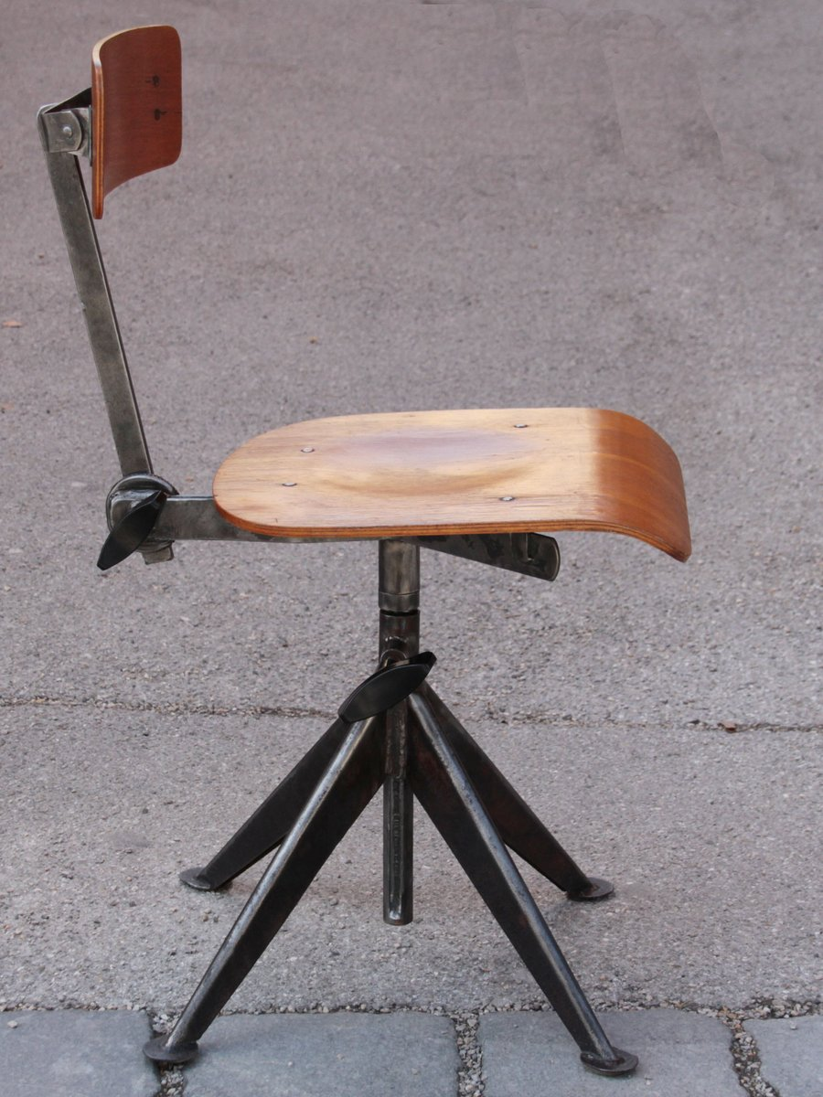 Vintage Office Chair by Jean Prouv for sale at Pamono
