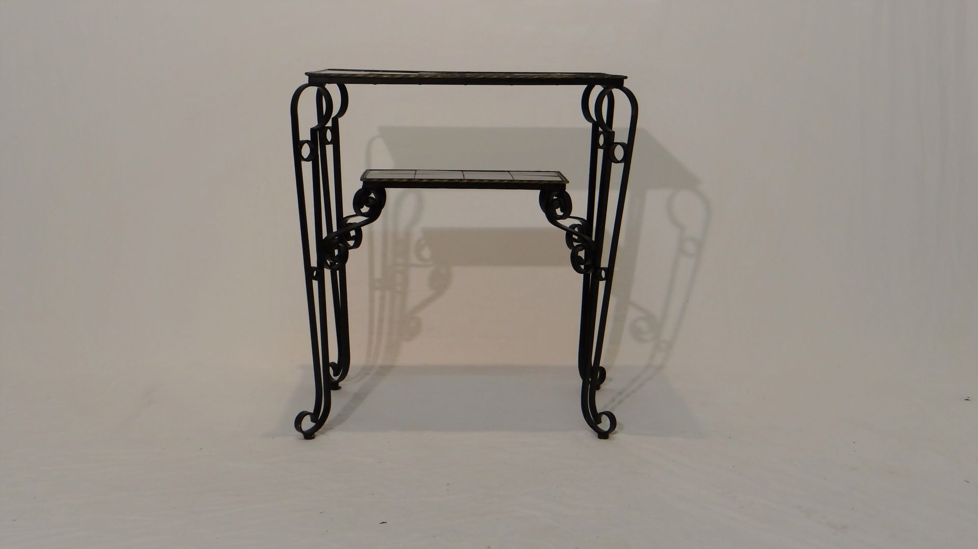 Vintage Black Side Table With Scrolled Legs 8. Price: $894.00 Regular  Price: $1,036.00
