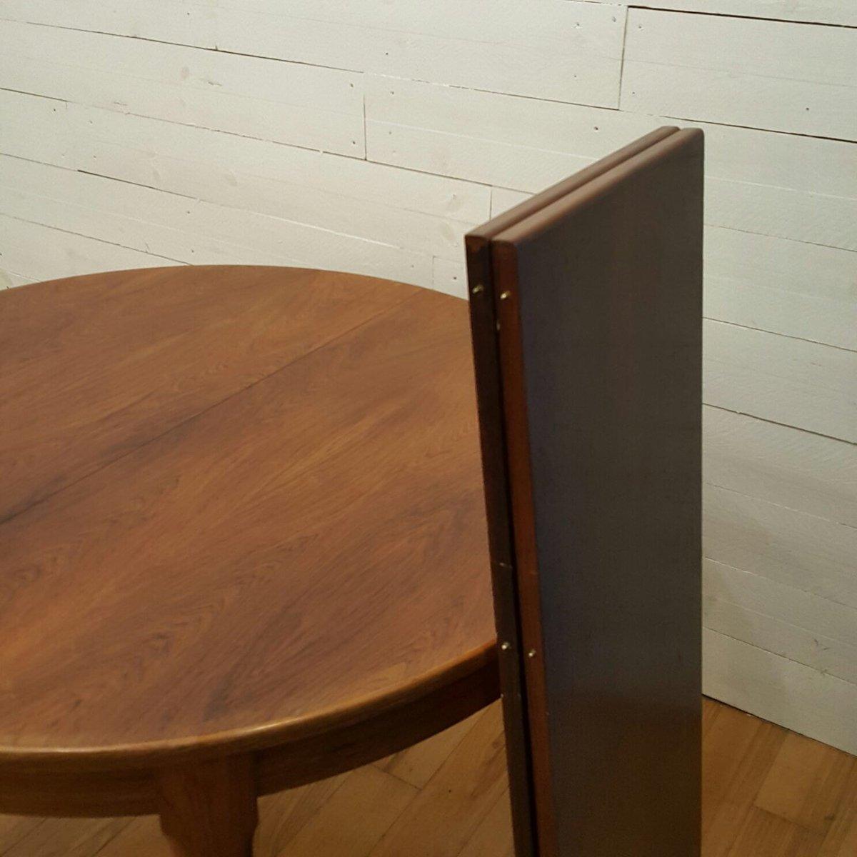 Runder palisander tisch von meuble tv paris bei pamono kaufen for Meubles paris