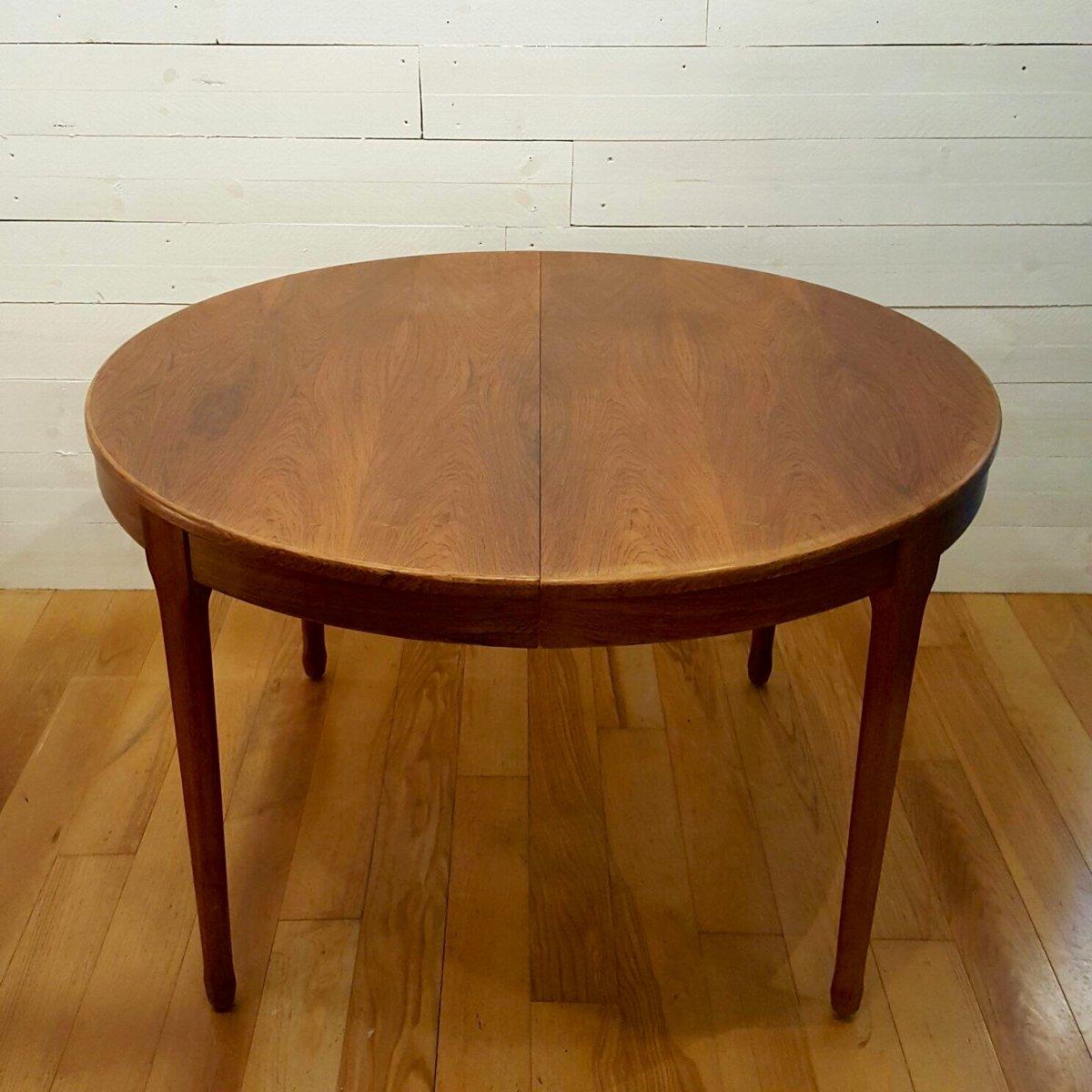 Runder palisander tisch von meuble tv paris bei pamono kaufen for Palisander tisch