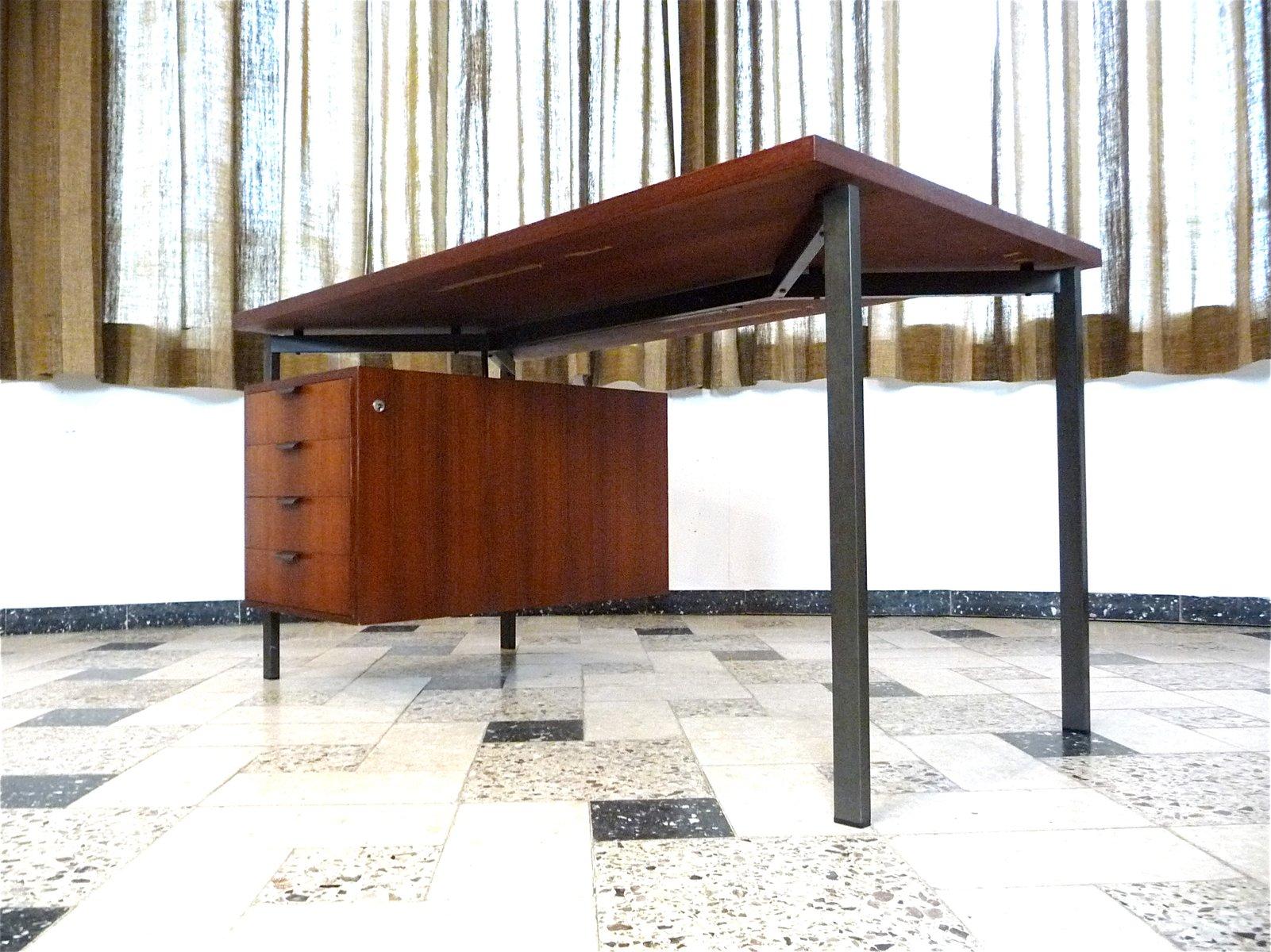 Schreibtisch vintage  Vintage German Teak Desk by Herbert Hirche for Holzäpfel for sale ...