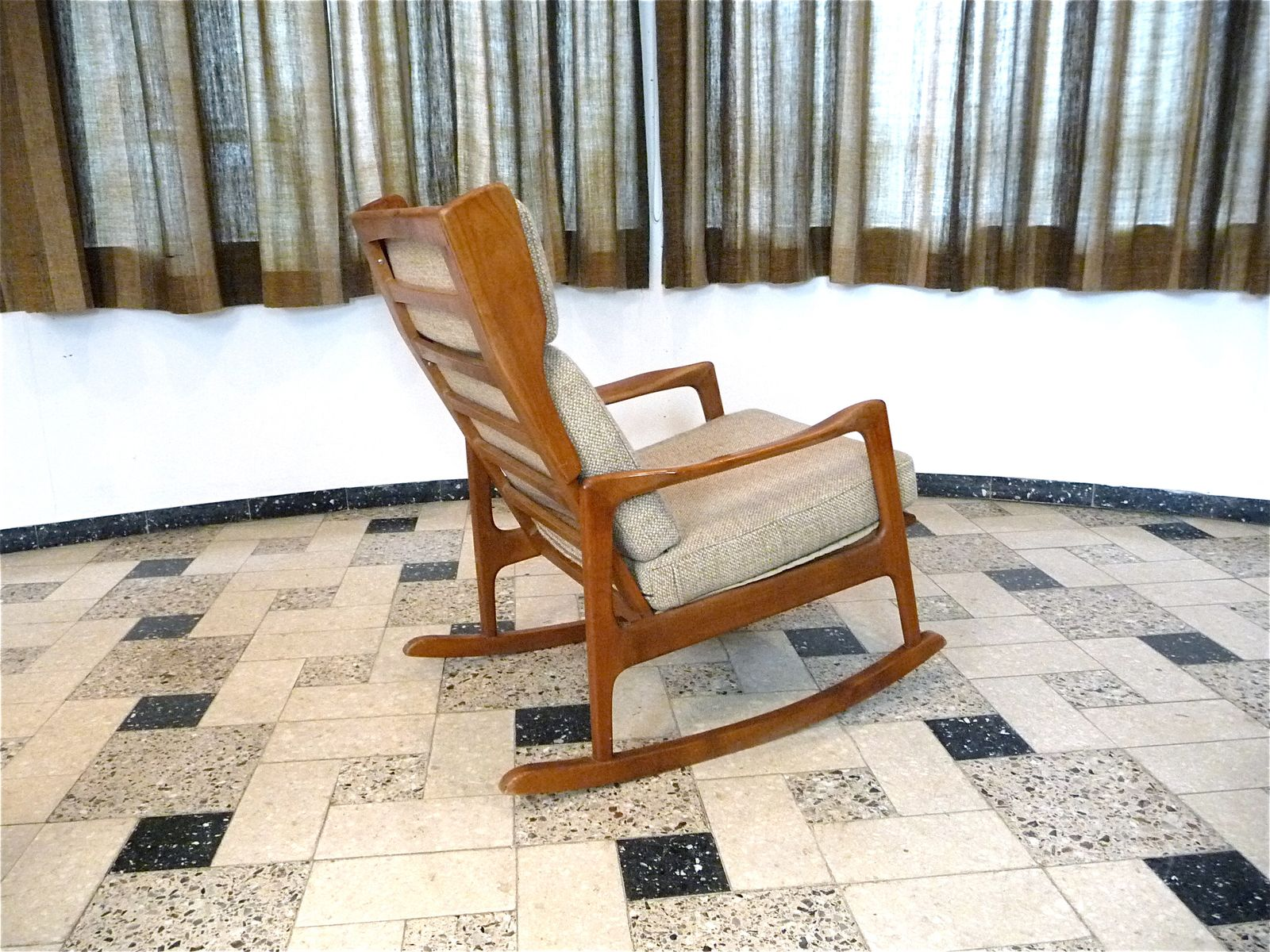 solid wooden rocking chair 1960s for sale at pamono