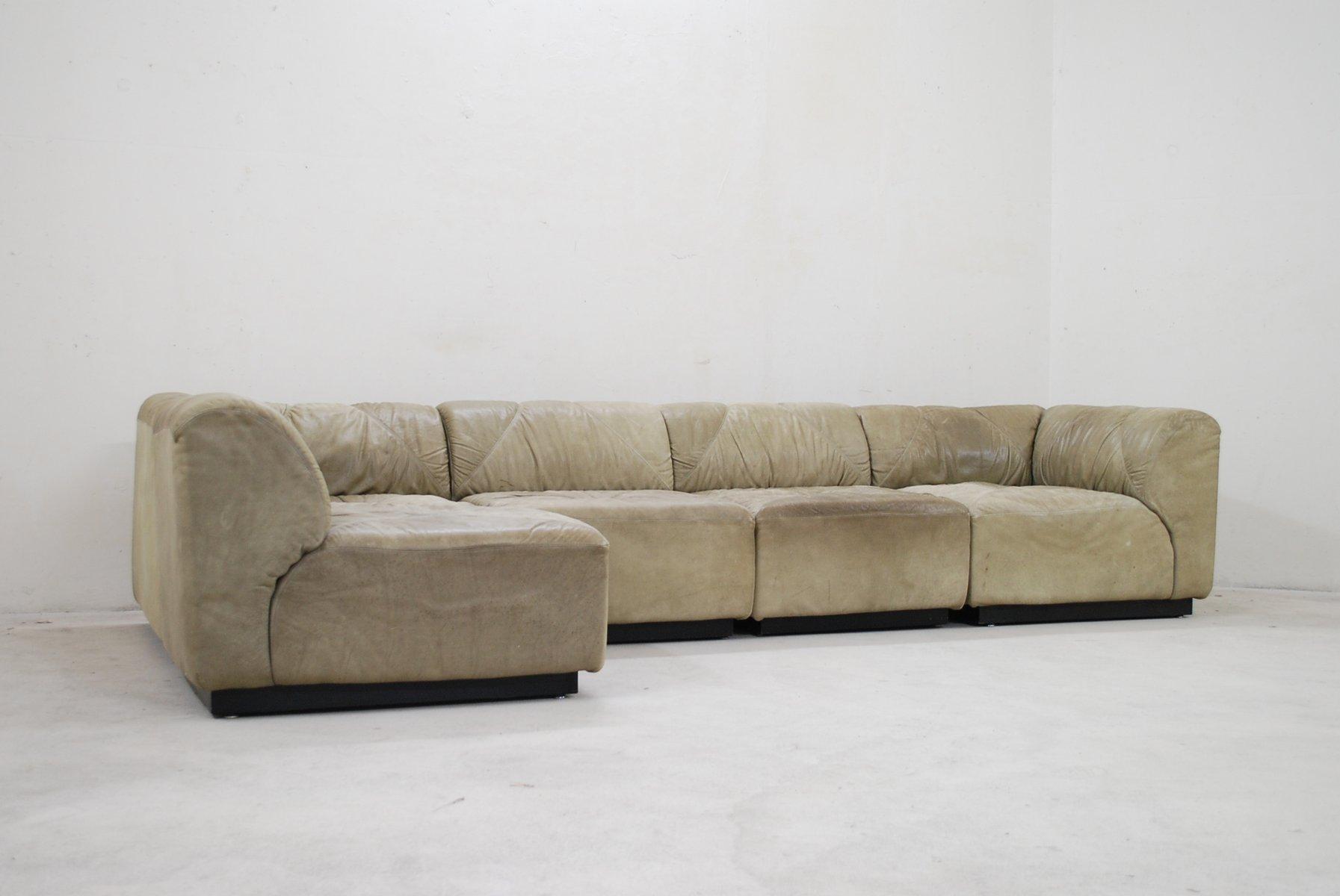 modulares vintage dom ne b ffelleder sofa von bernd m nzebrock f r walter knoll bei pamono kaufen. Black Bedroom Furniture Sets. Home Design Ideas