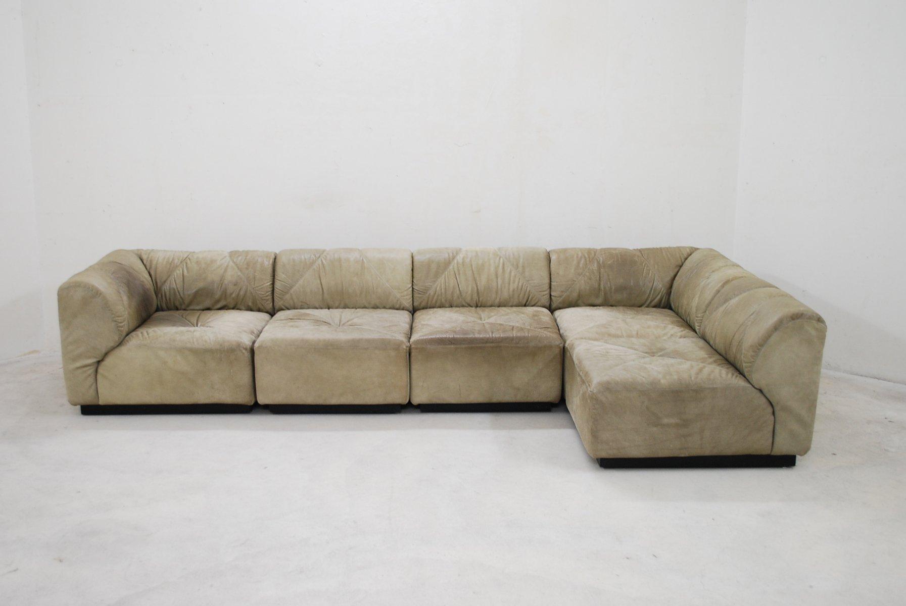 modulares vintage dom ne b ffelleder sofa von bernd. Black Bedroom Furniture Sets. Home Design Ideas