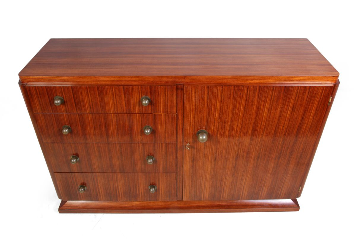 french art deco rosewood sideboard 1920s for sale at pamono. Black Bedroom Furniture Sets. Home Design Ideas
