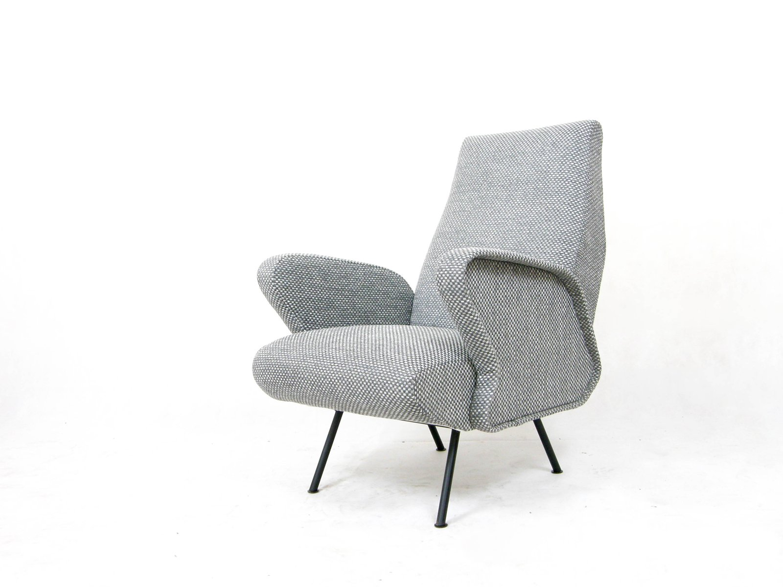 italienischer grauer sessel 1950er bei pamono kaufen. Black Bedroom Furniture Sets. Home Design Ideas