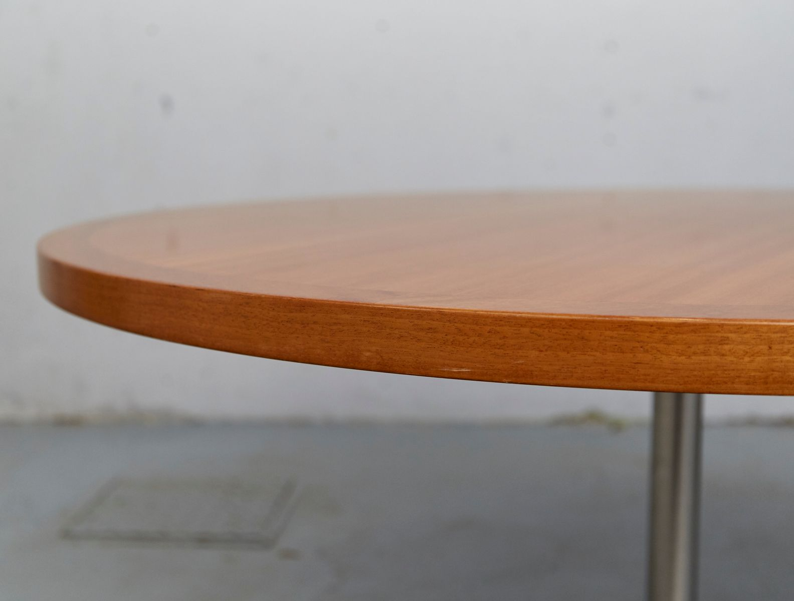 Vintage Rotatable Wood And Aluminum Coffee Table By Preben Fabricius For Walter Knoll 1960s For