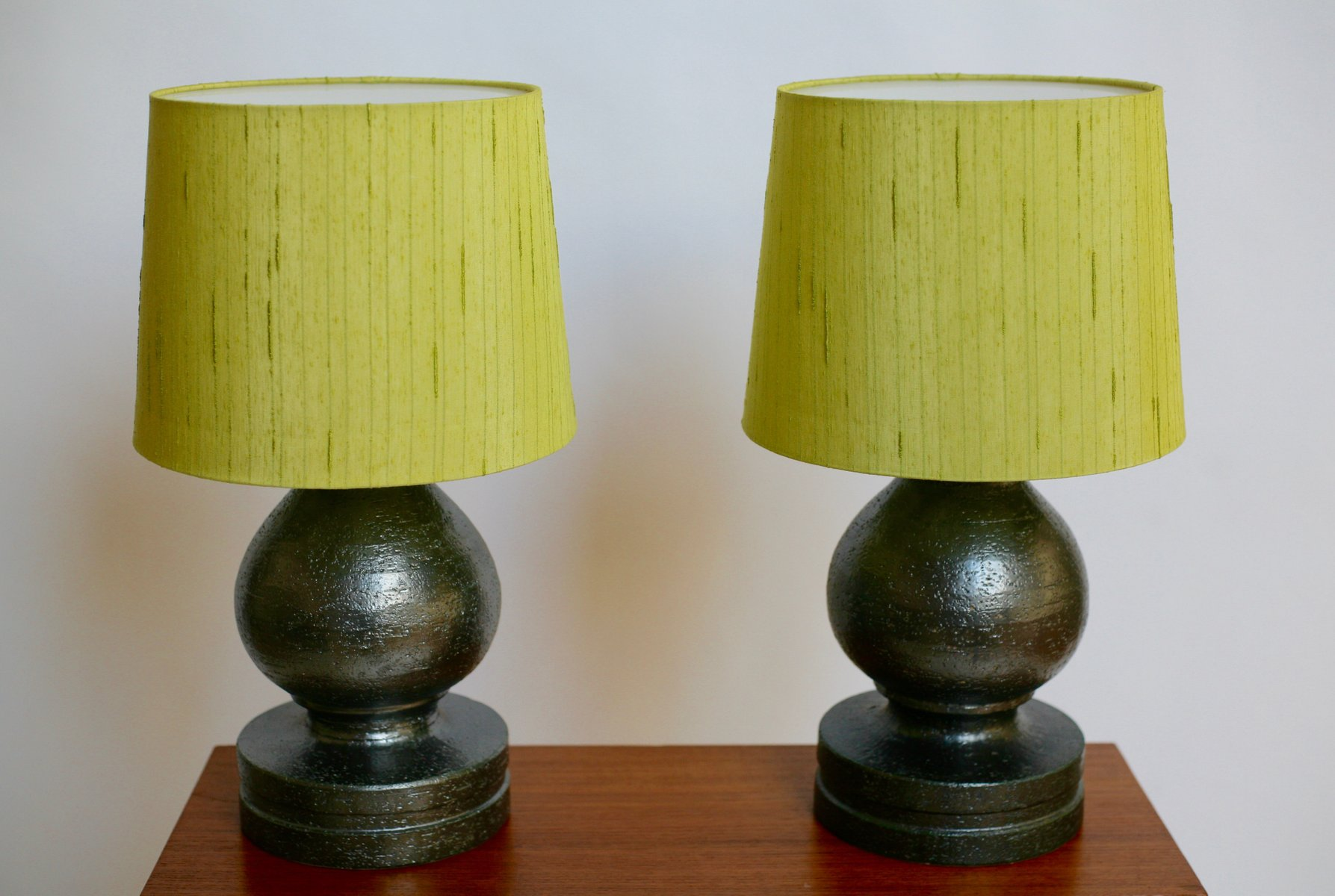 ceramic table lamps by bitossi for luxus set of 2