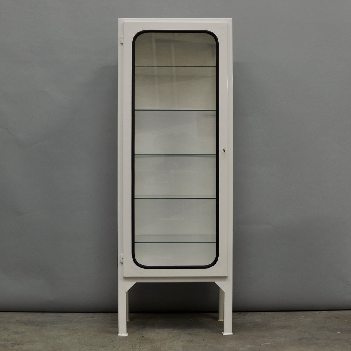 Vintage Tall Hungarian Medicine Cabinet, 1970s for sale at Pamono