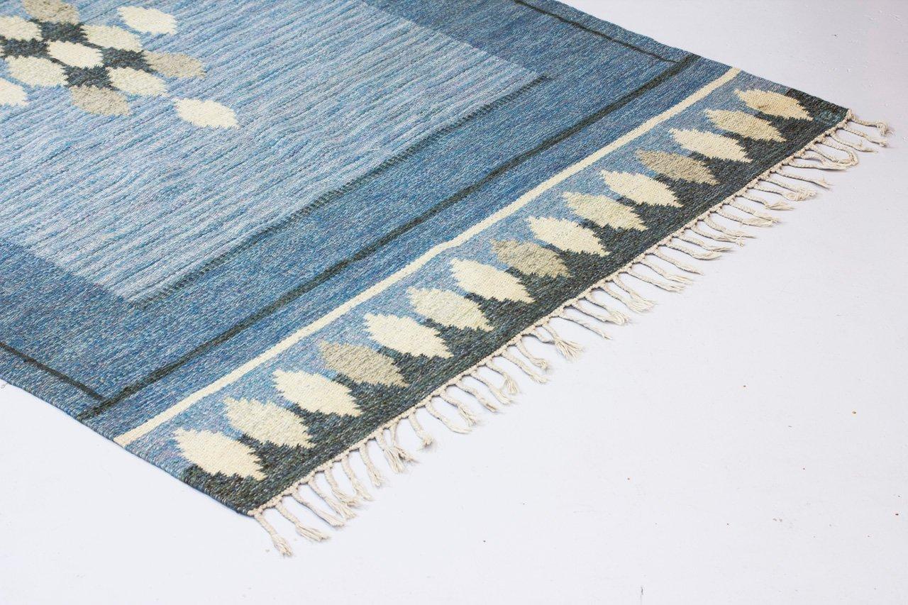 schwedischer flach gewebter vintage r lakan teppich von. Black Bedroom Furniture Sets. Home Design Ideas