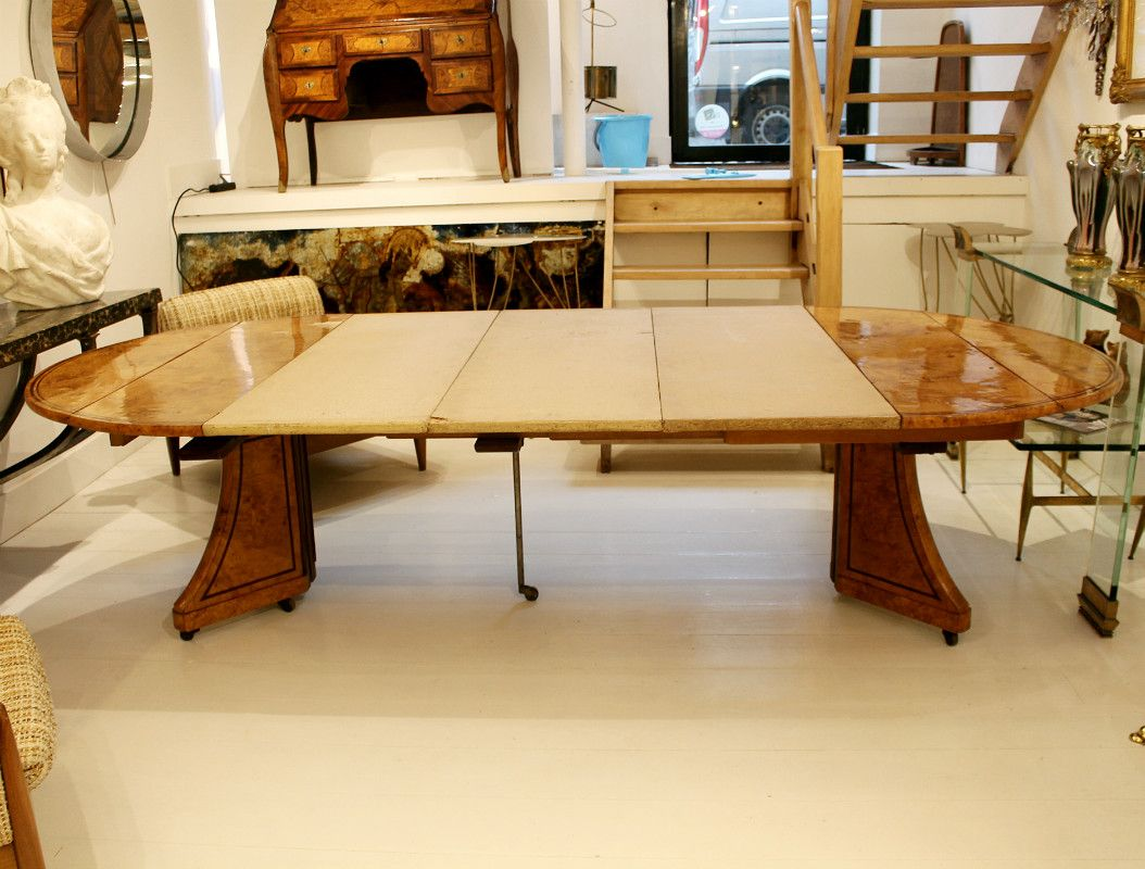 Antique Charles X Dining Table In Ash For Sale At Pamono