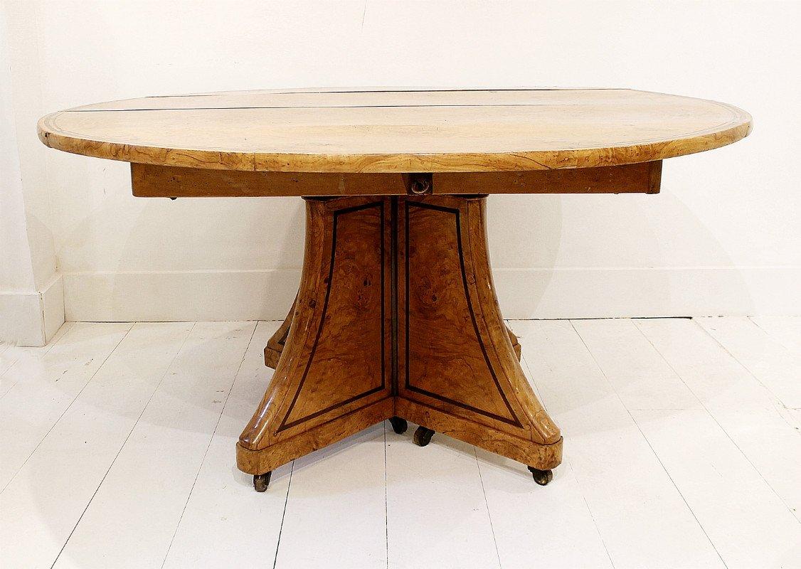 Antiker charles x esstisch aus eschenholz bei pamono kaufen - Esstisch verspiegelt ...
