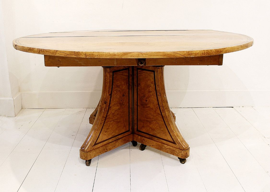 Table de salon antique charles x en fr ne en vente sur pamono - Table de salon antique ...
